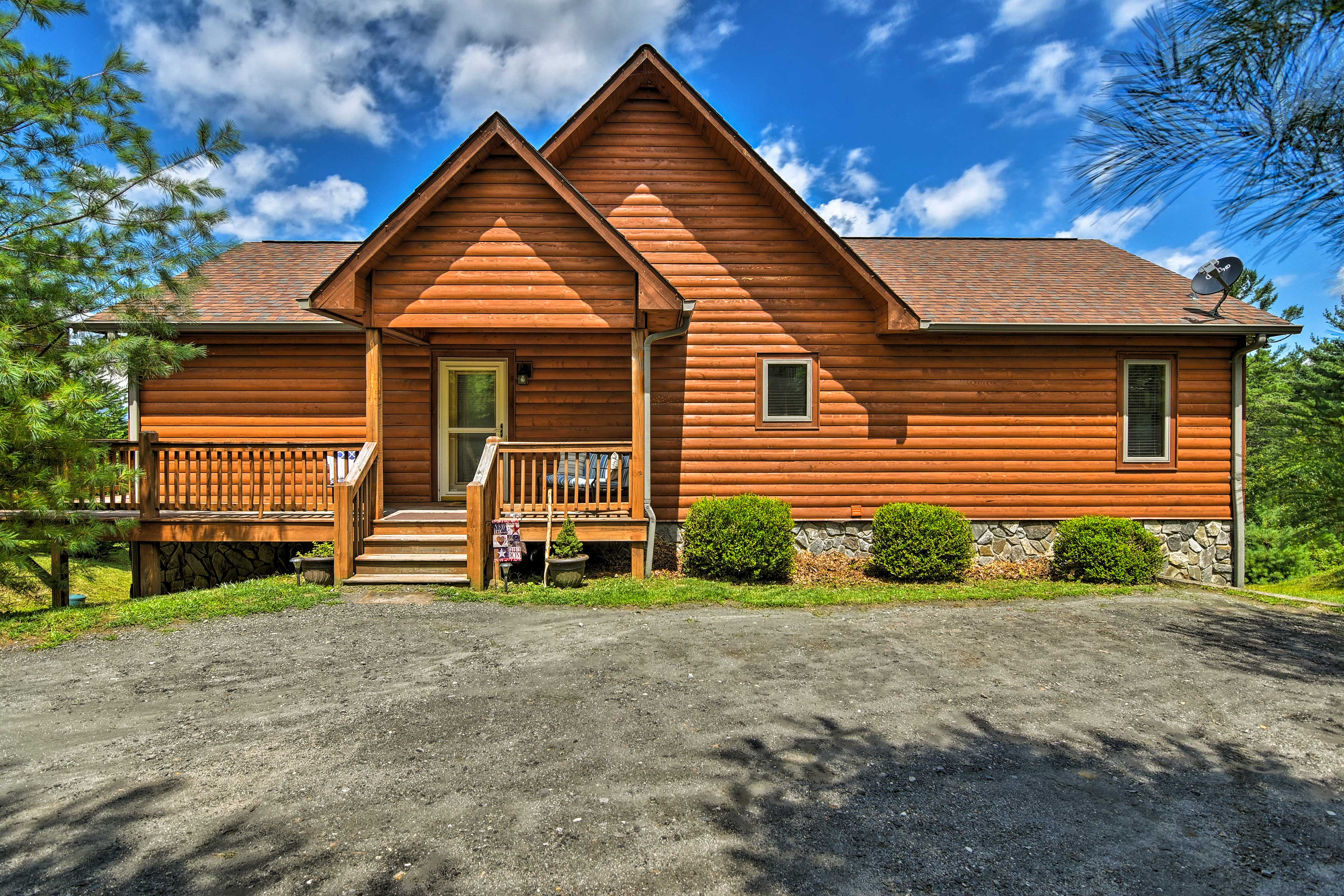 Experience the beauty of the Blue Ridge Mountains from a cabin unlike any other!