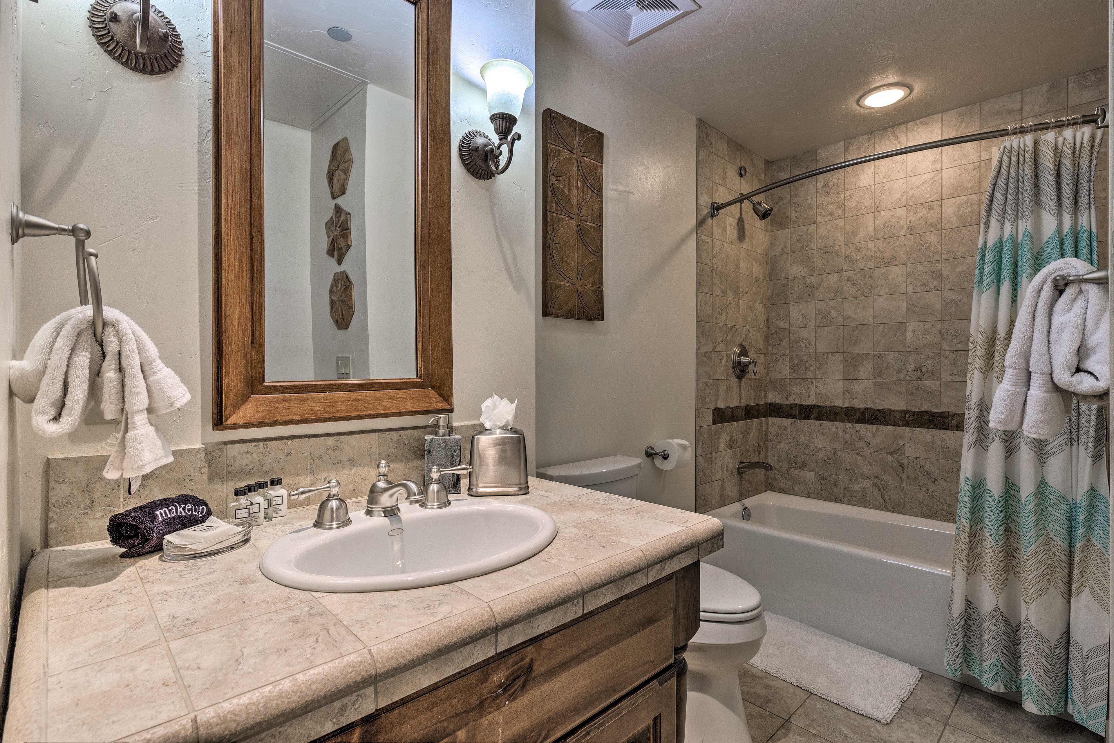 Stocked with fresh towels, the 3 bathrooms provide guests with privacy & comfort