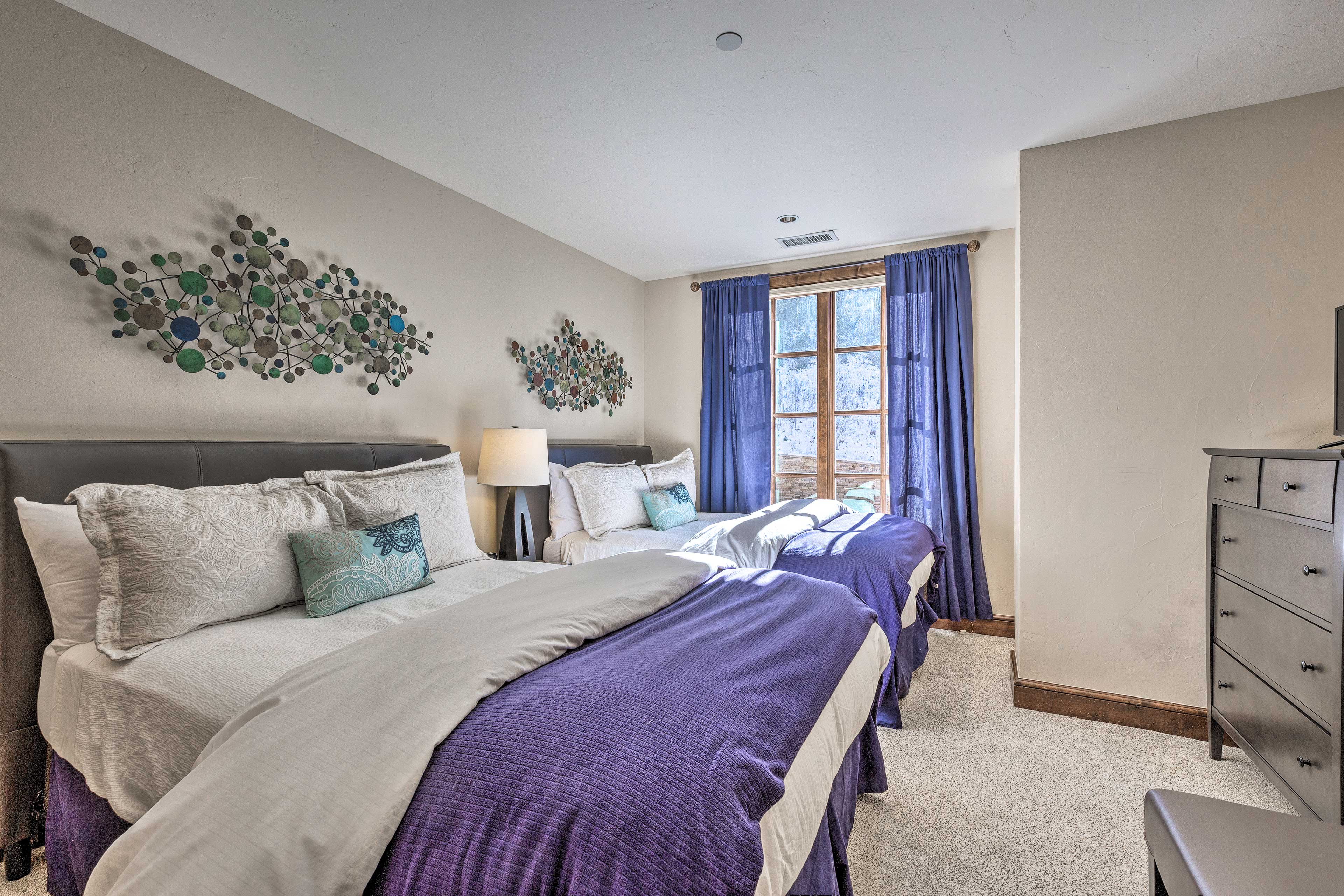You're ensured a restful night in this bedroom.