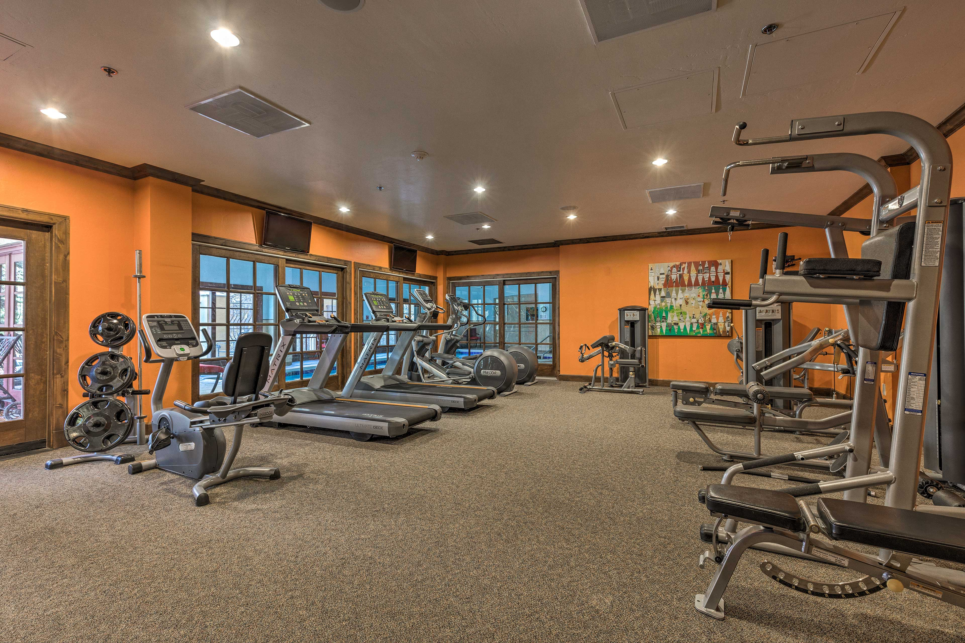 This property also features a fully-equipped fitness center.