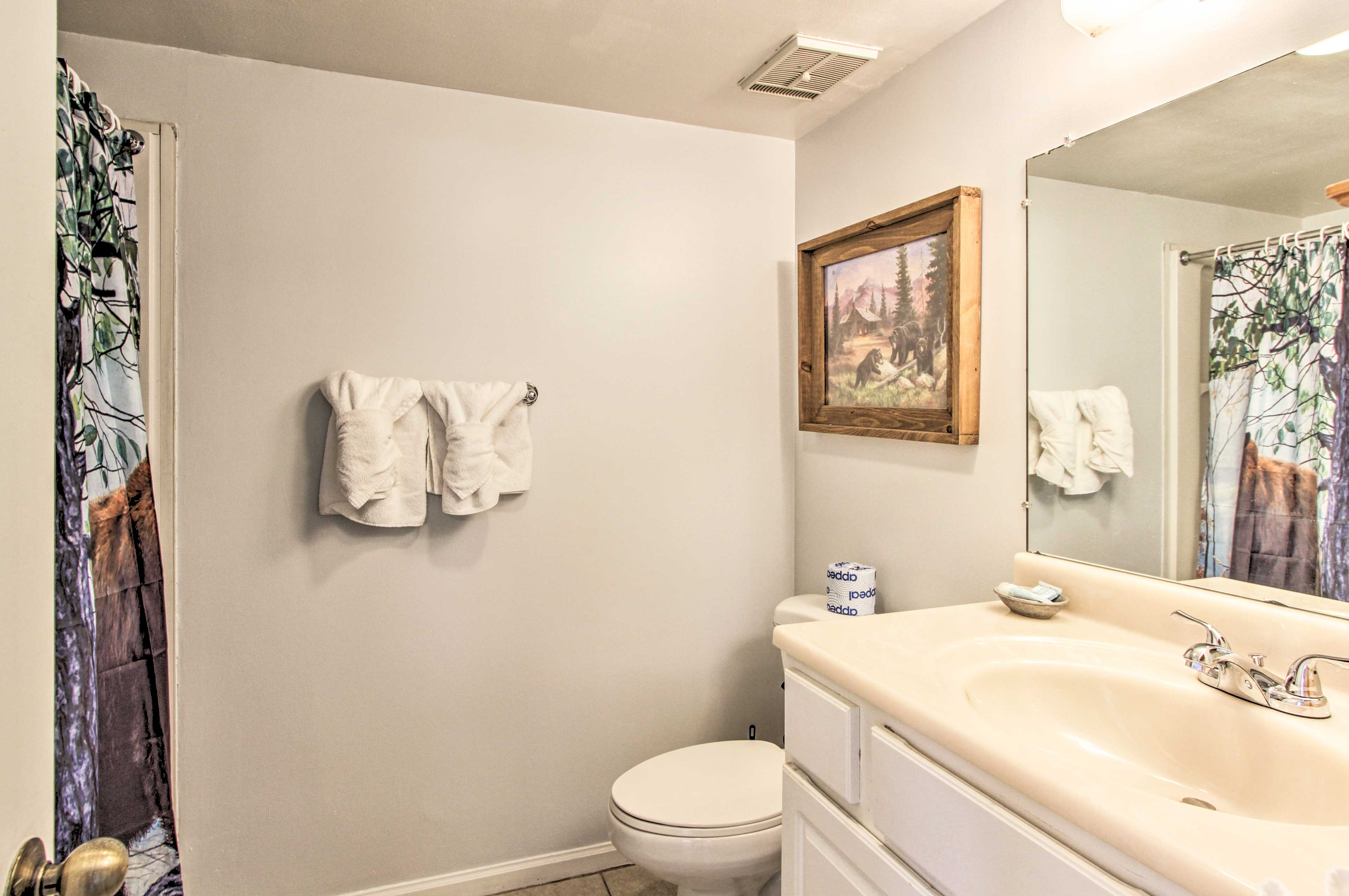 With 2 full bathrooms, it will be easy to get ready in the morning.