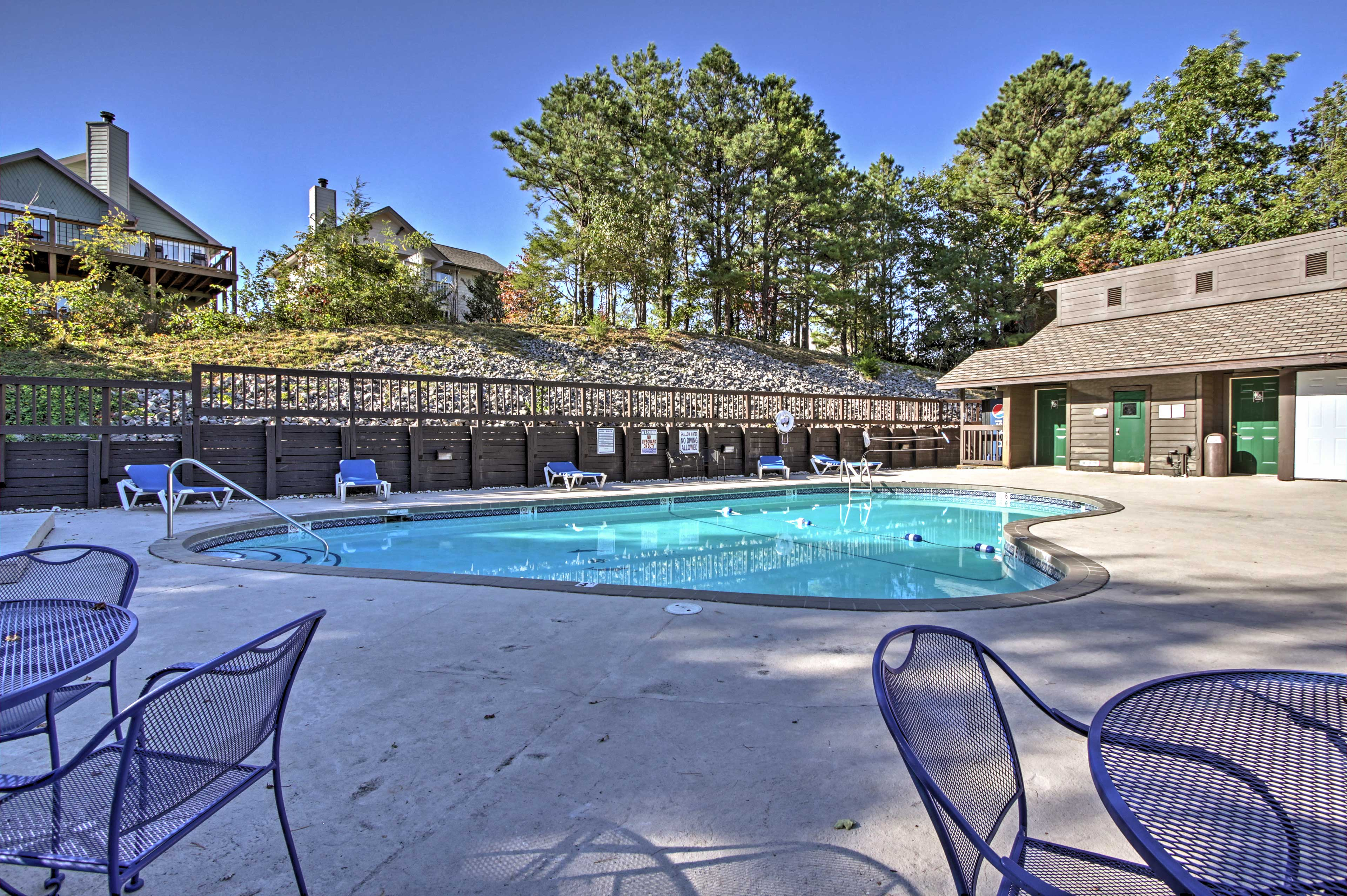 Let your loved ones swim laps around the pool as you relax with a cocktail.