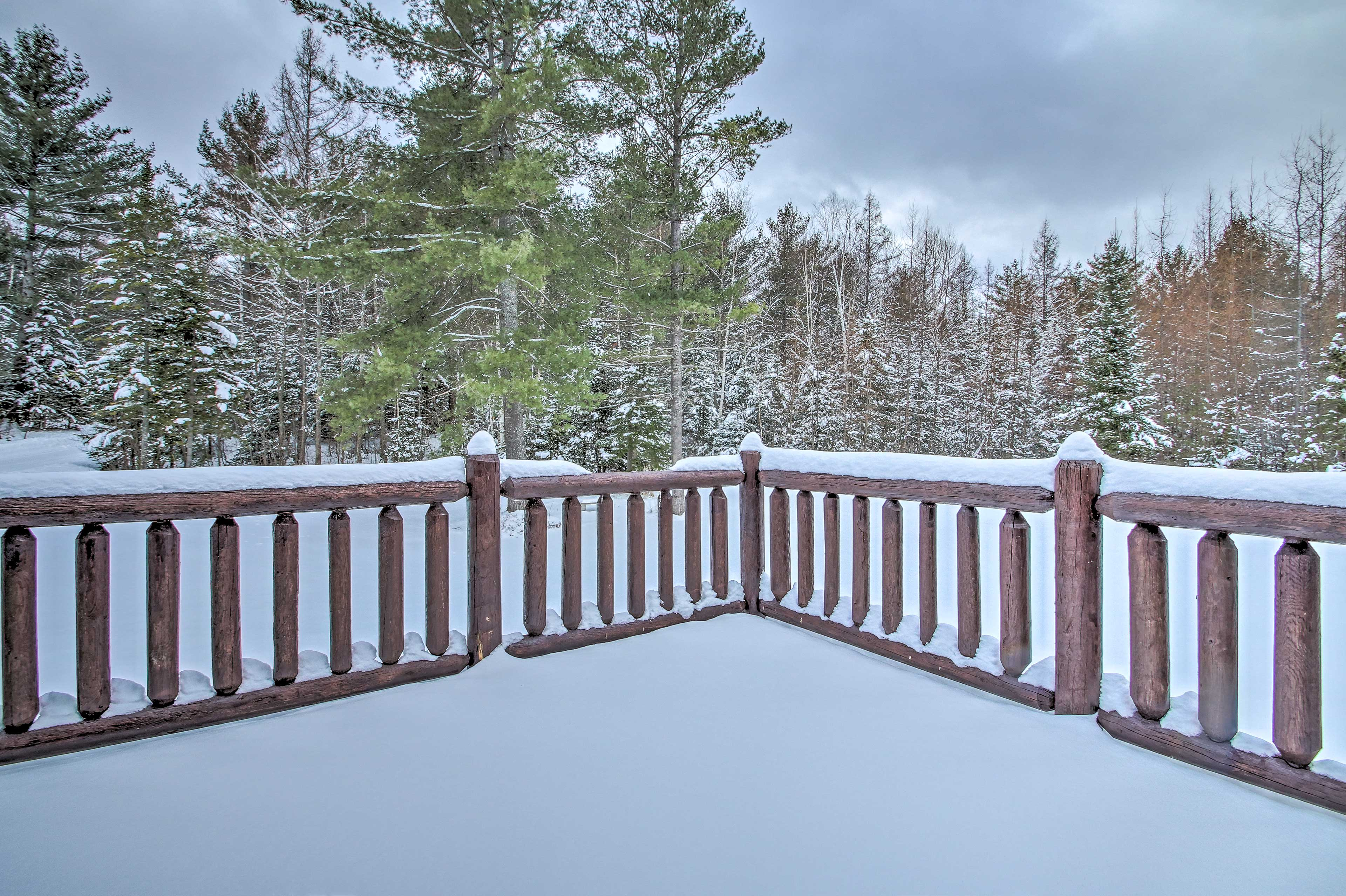 Gaze out at a winter wonderland when the snow falls.