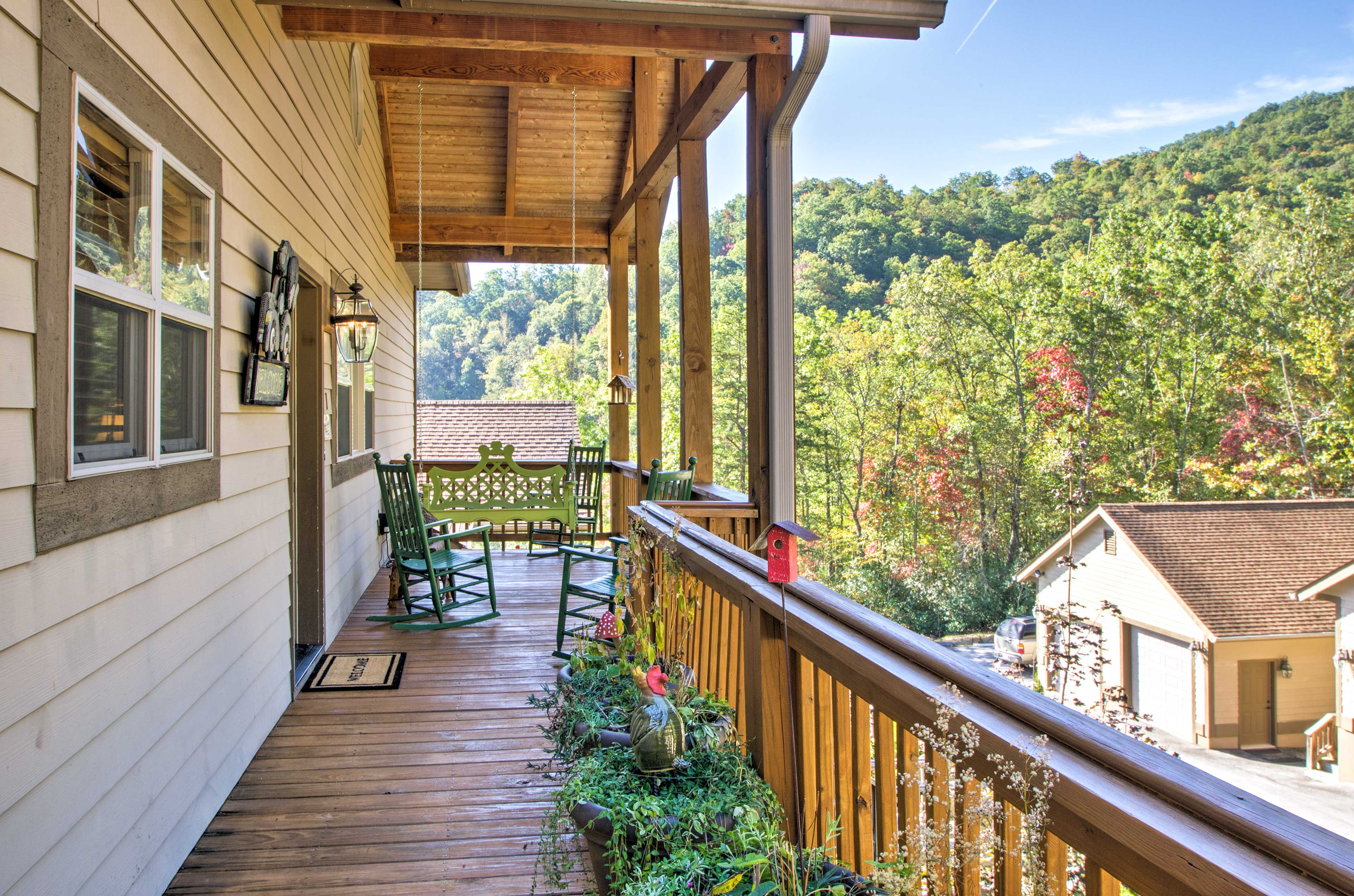 Sip your morning coffee on the balcony.