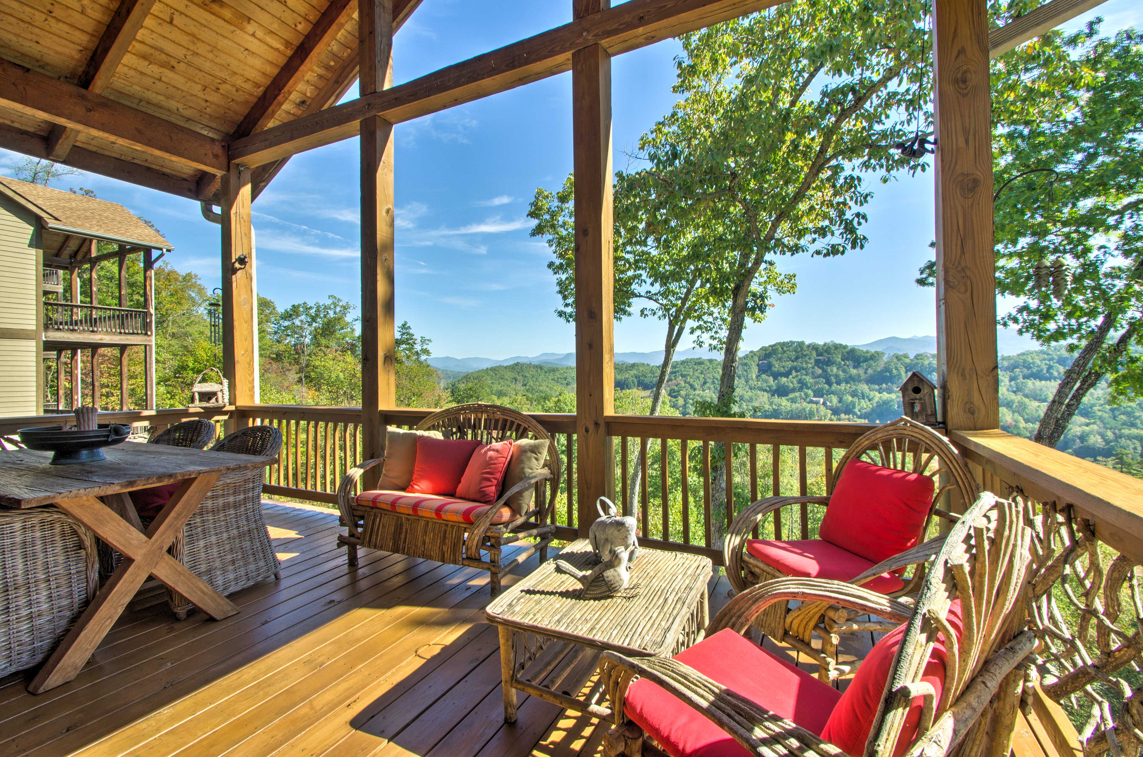 Enjoy the 30-mile vista view from the viewing deck!
