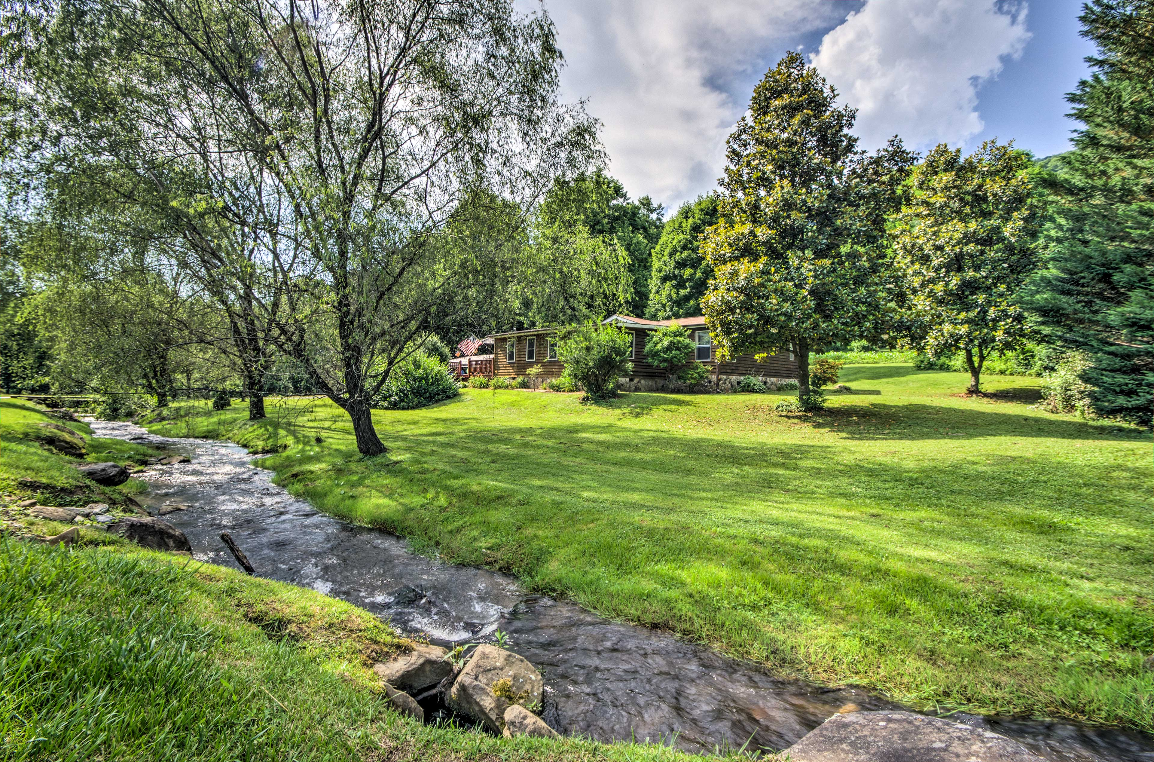 Let the babbling brook set the tone for your nature retreat!