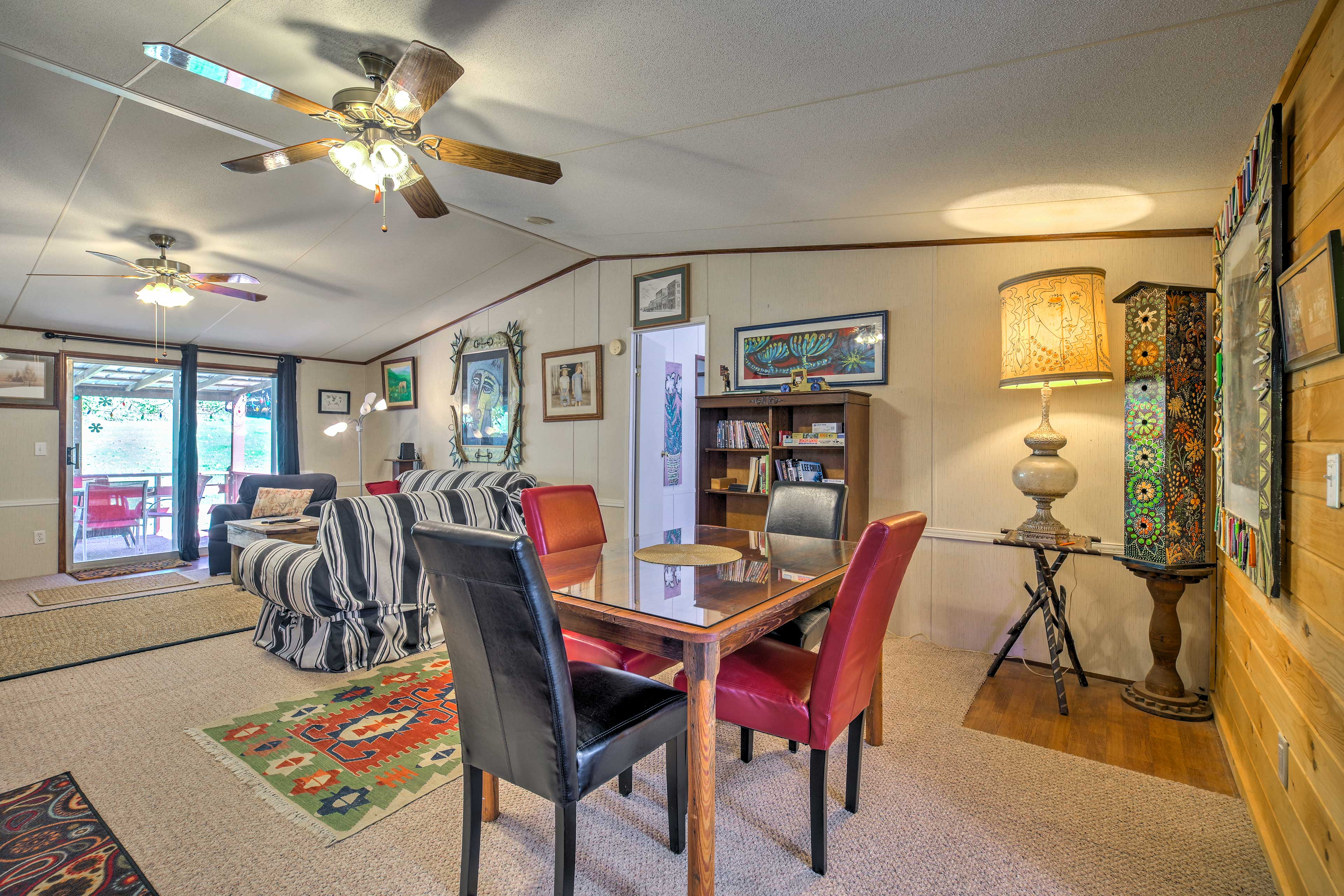 You're sure to love the funky decor and artistic accents throughout the home.