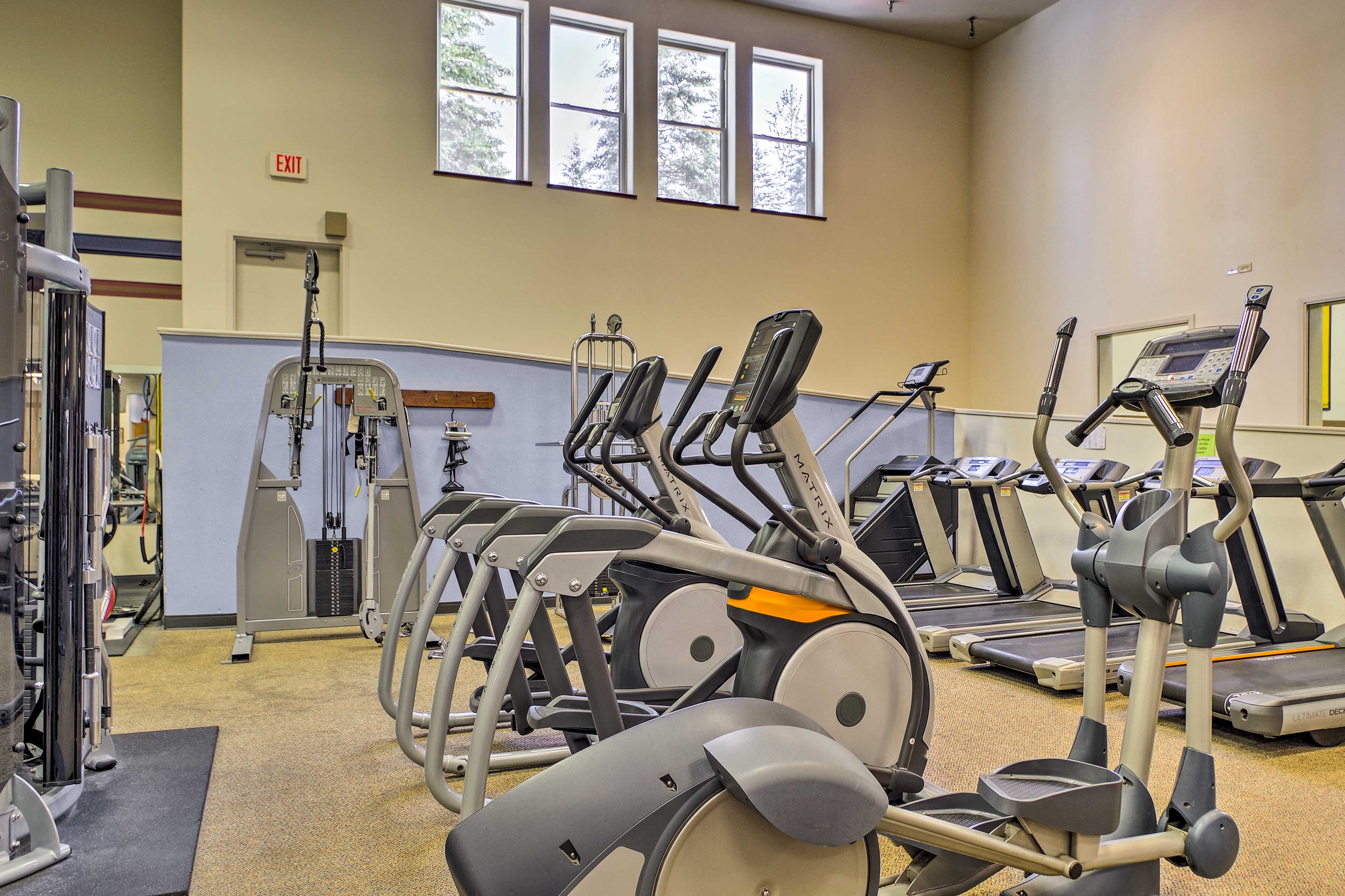 Keep up with your fitness goals in the work out center!