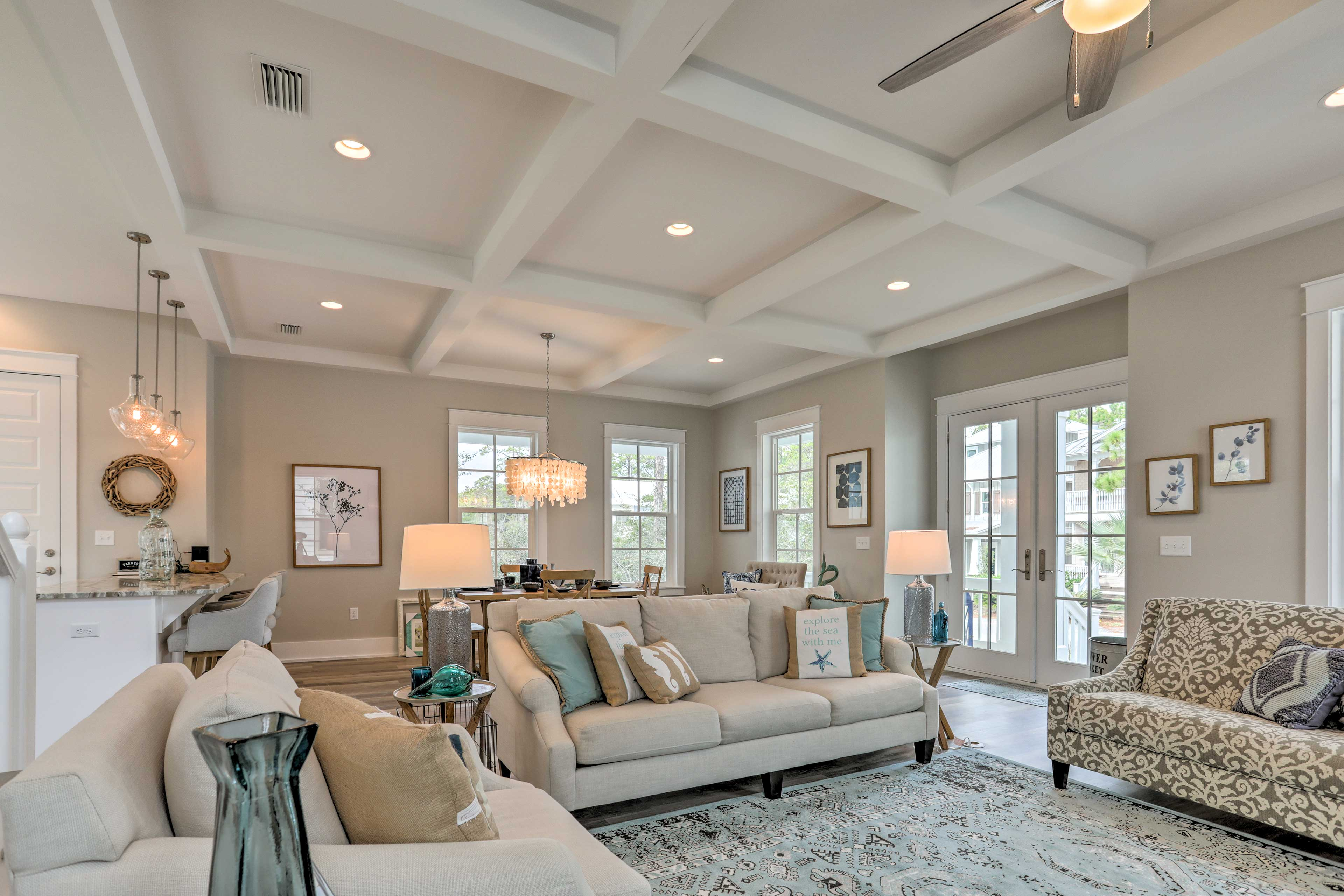Nautical decor accentuates this bright and airy home.