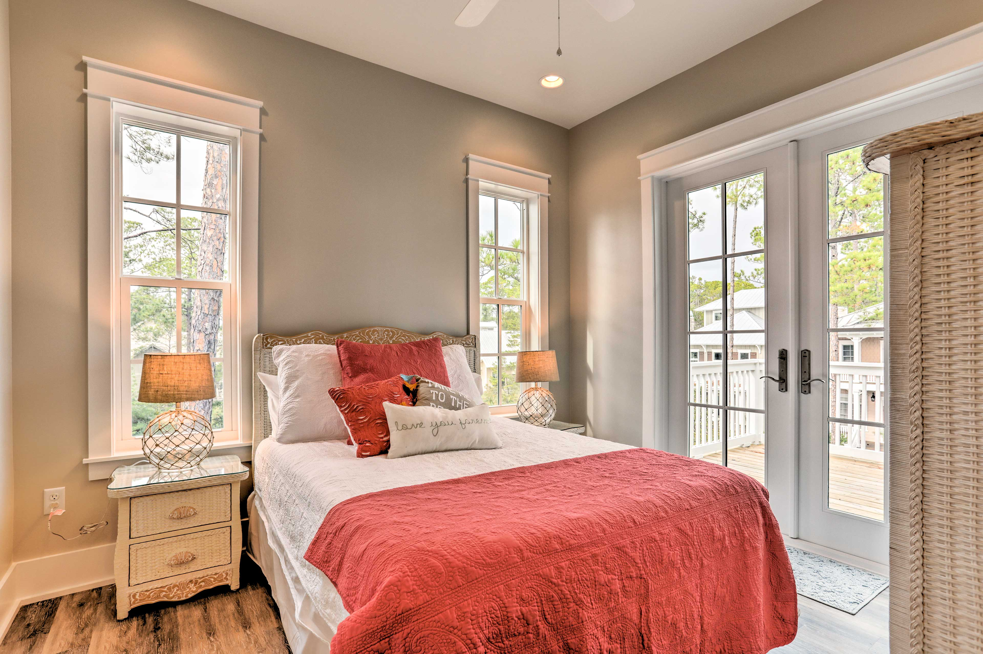 The second master bedroom features a queen bed.