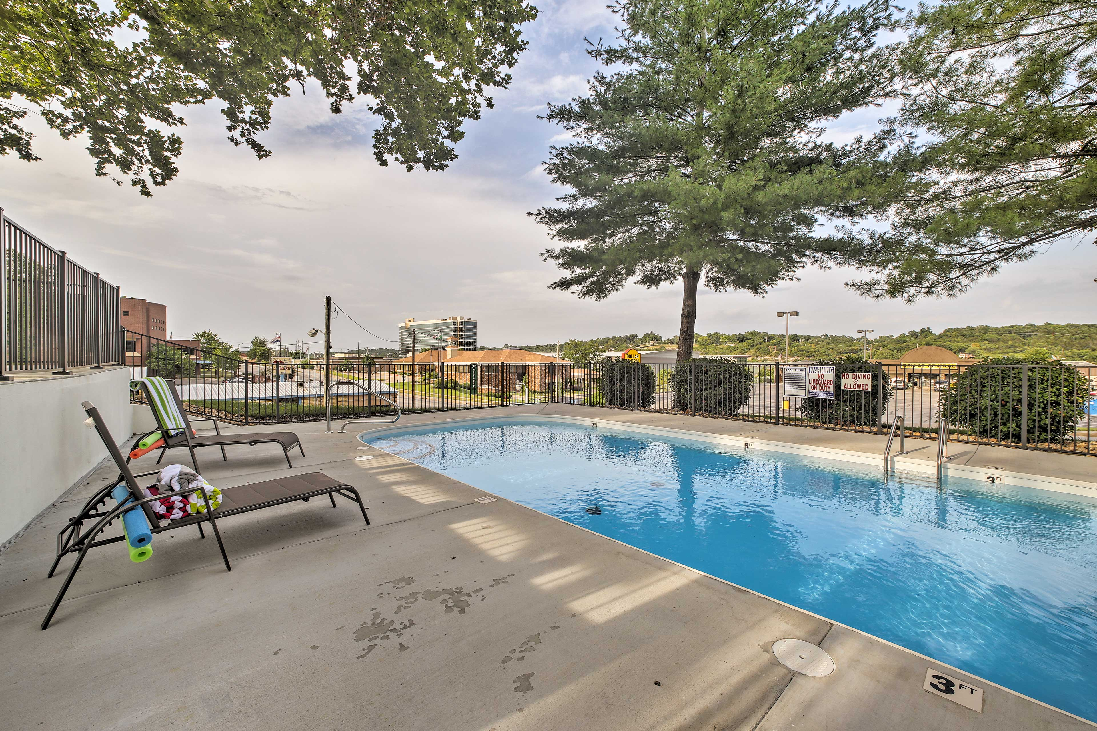The pool deck provides a lovely view!