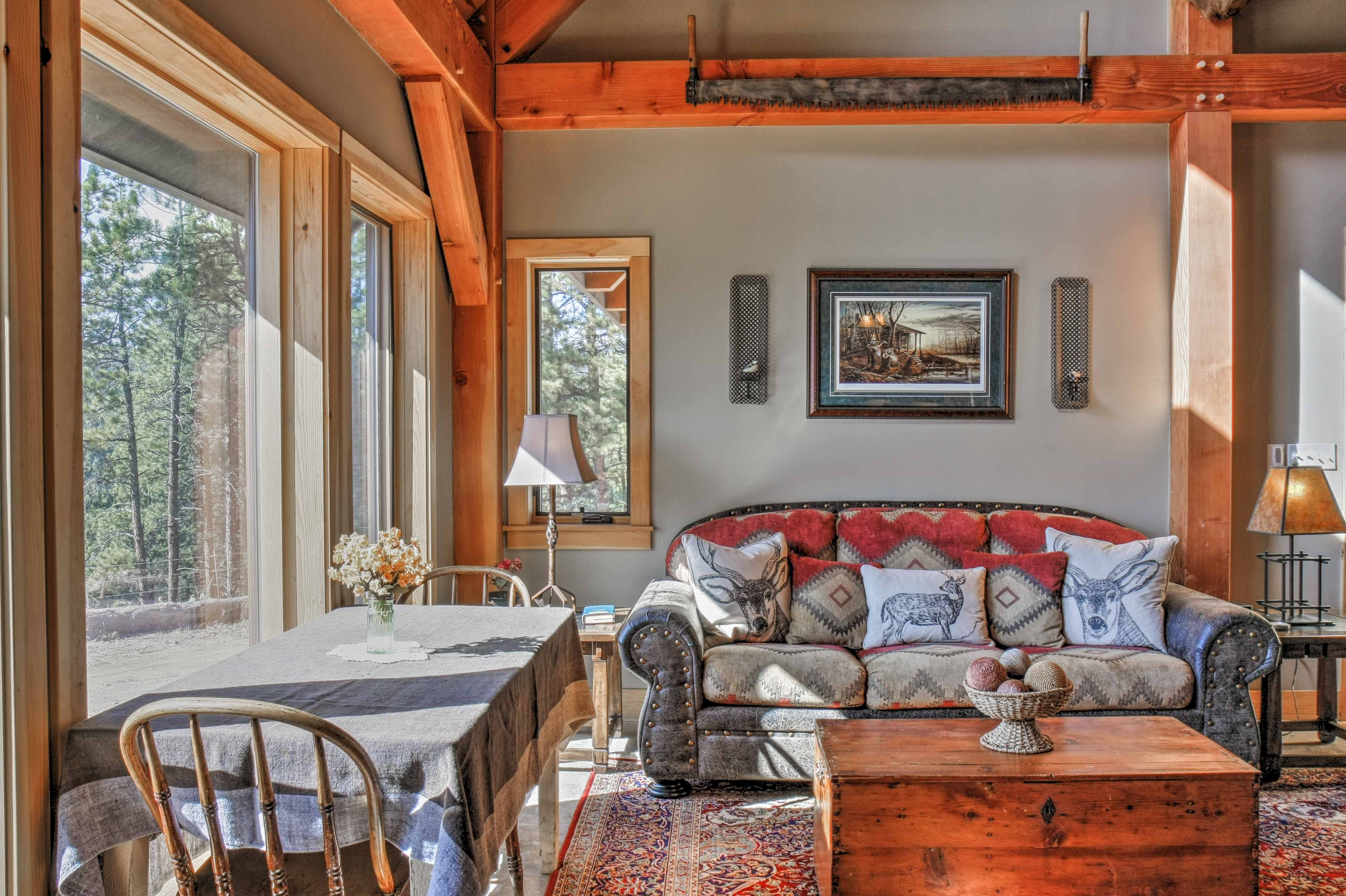Natural light fills the space and pulls the great outdoors inside.