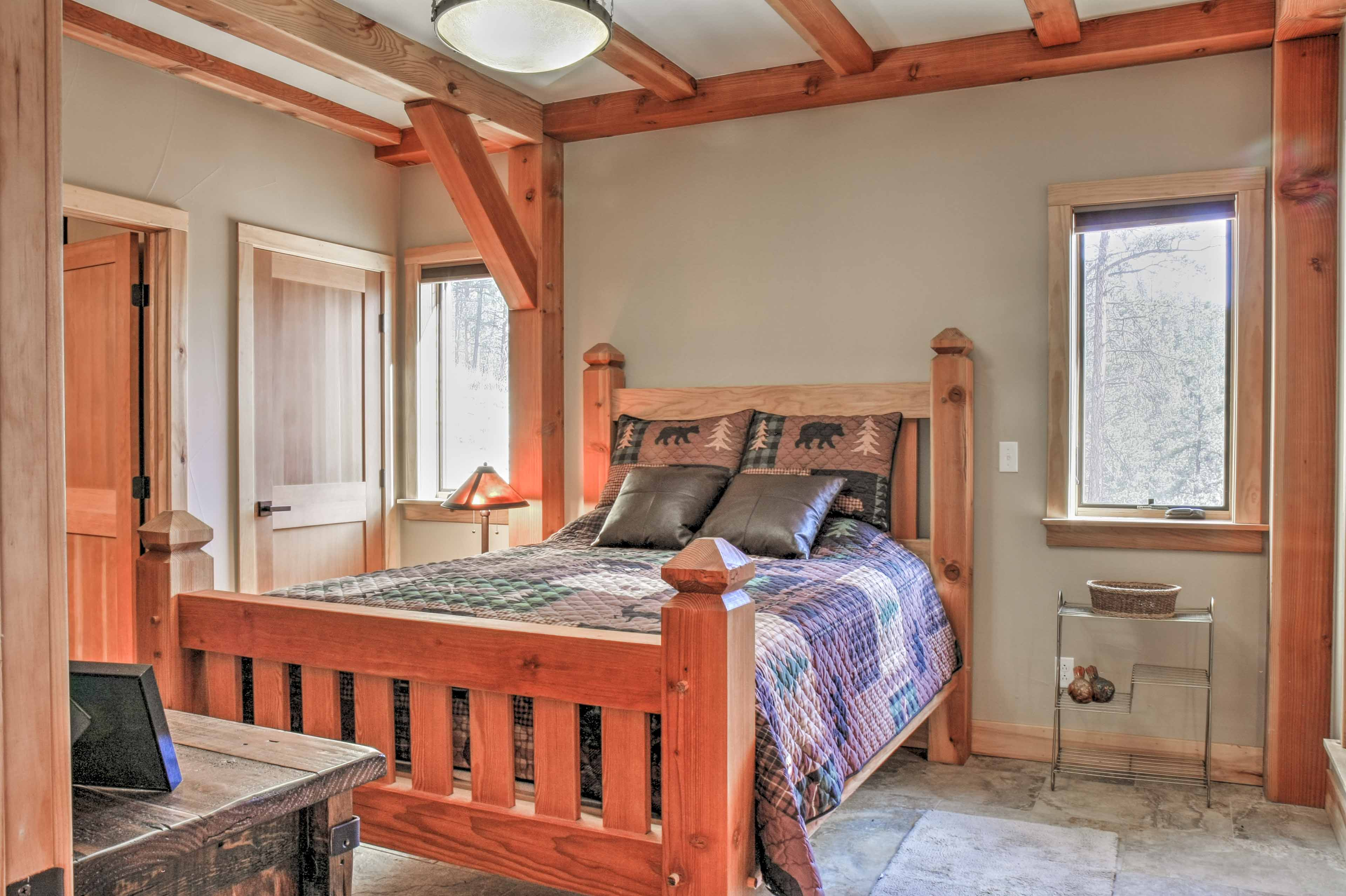 Each bedroom features a queen bed and flat-screen Smart DirecTV.