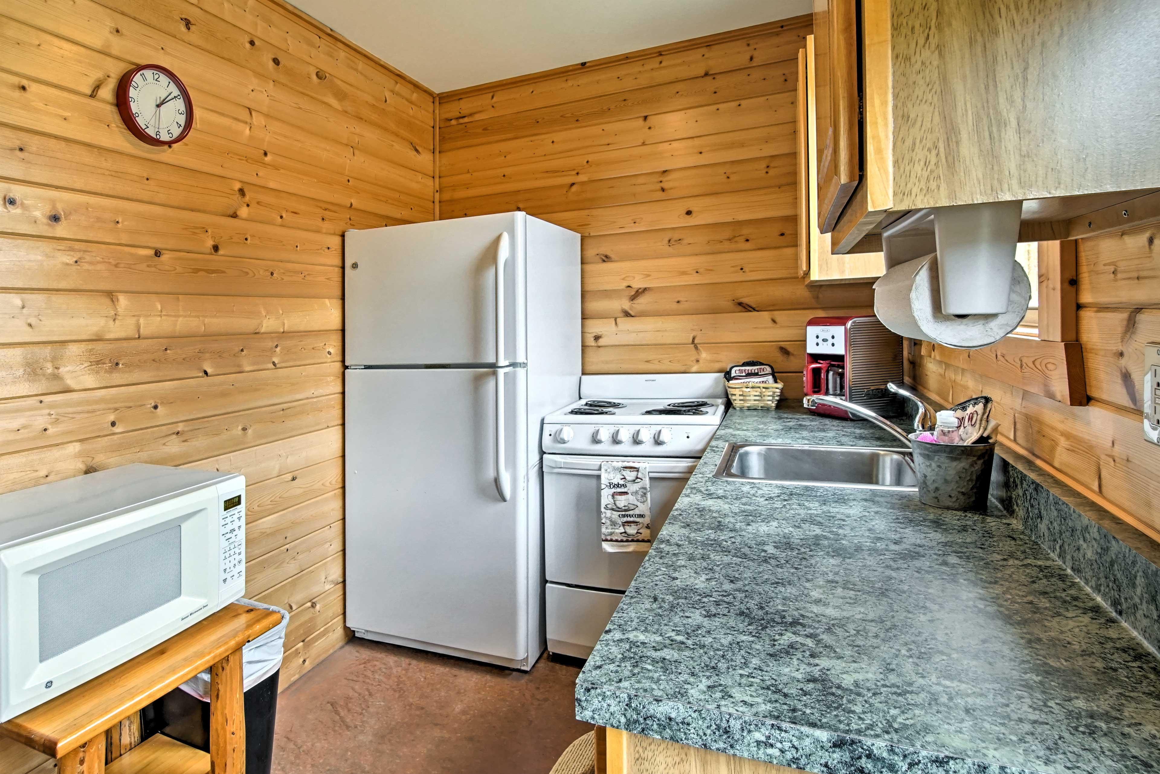 Prepare your favorite home-cooked meals in the well-equipped galley kitchen.