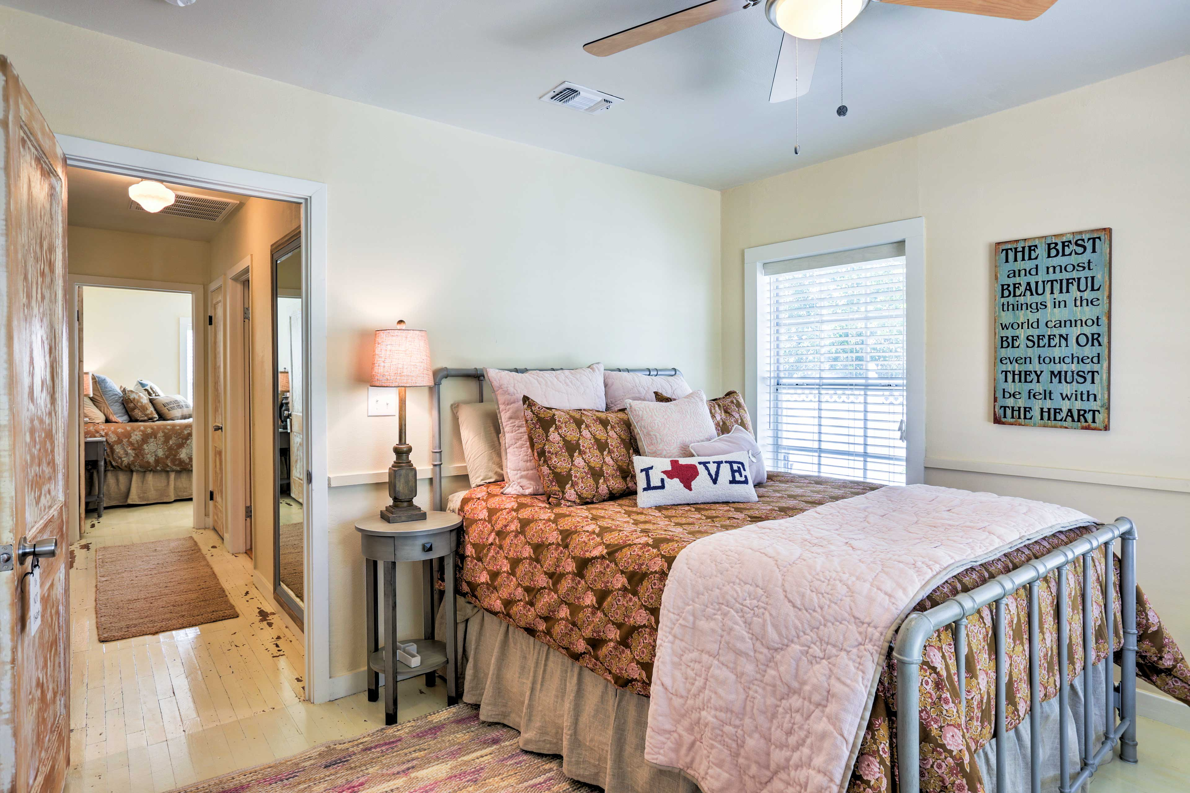 The third bedroom features a queen-sized bed.