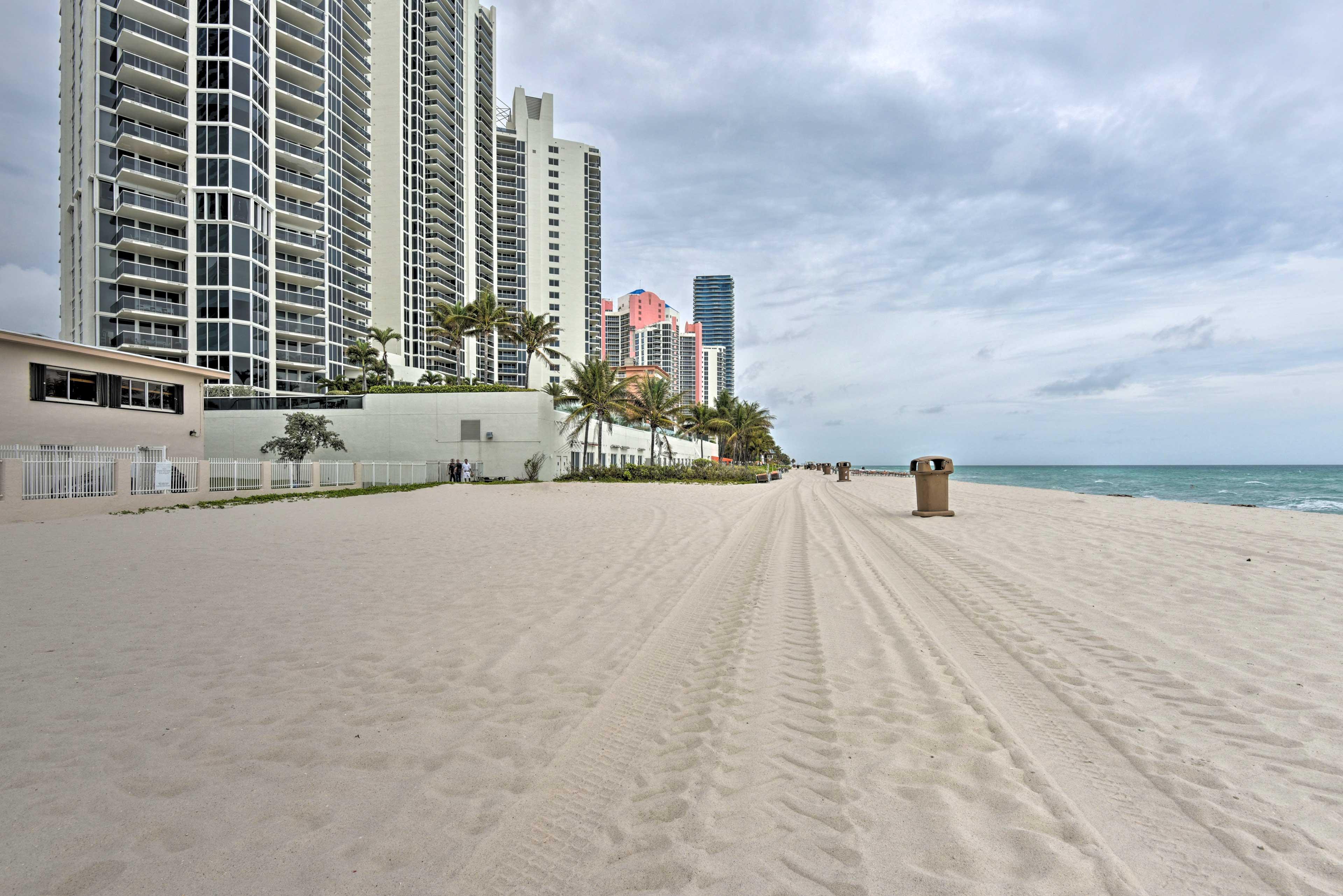 Enjoy peaceful strolls along the Sunny Isles Beach coast.