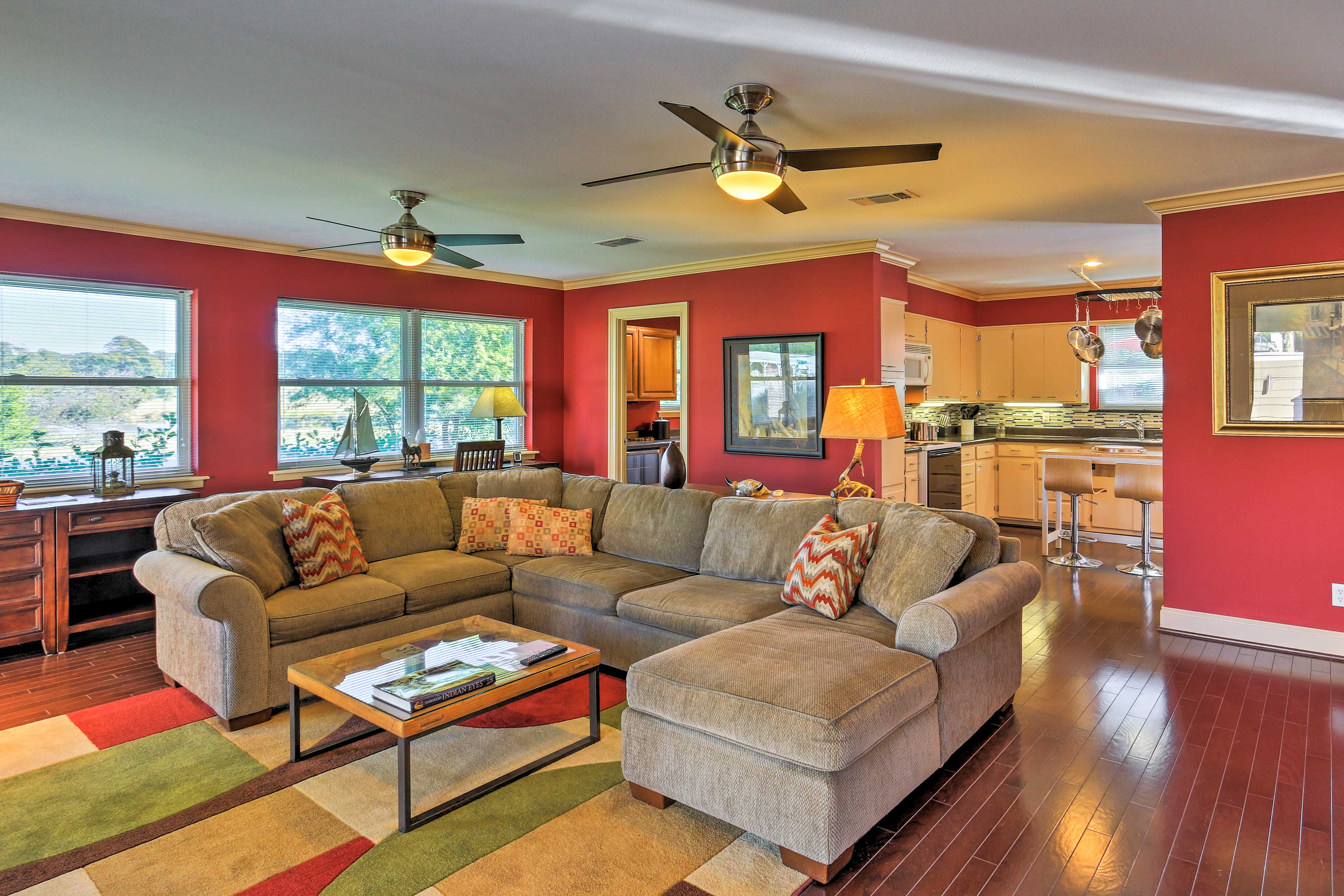 The rich hardwood floors and warm decor will make you feel as though you have never left home.
