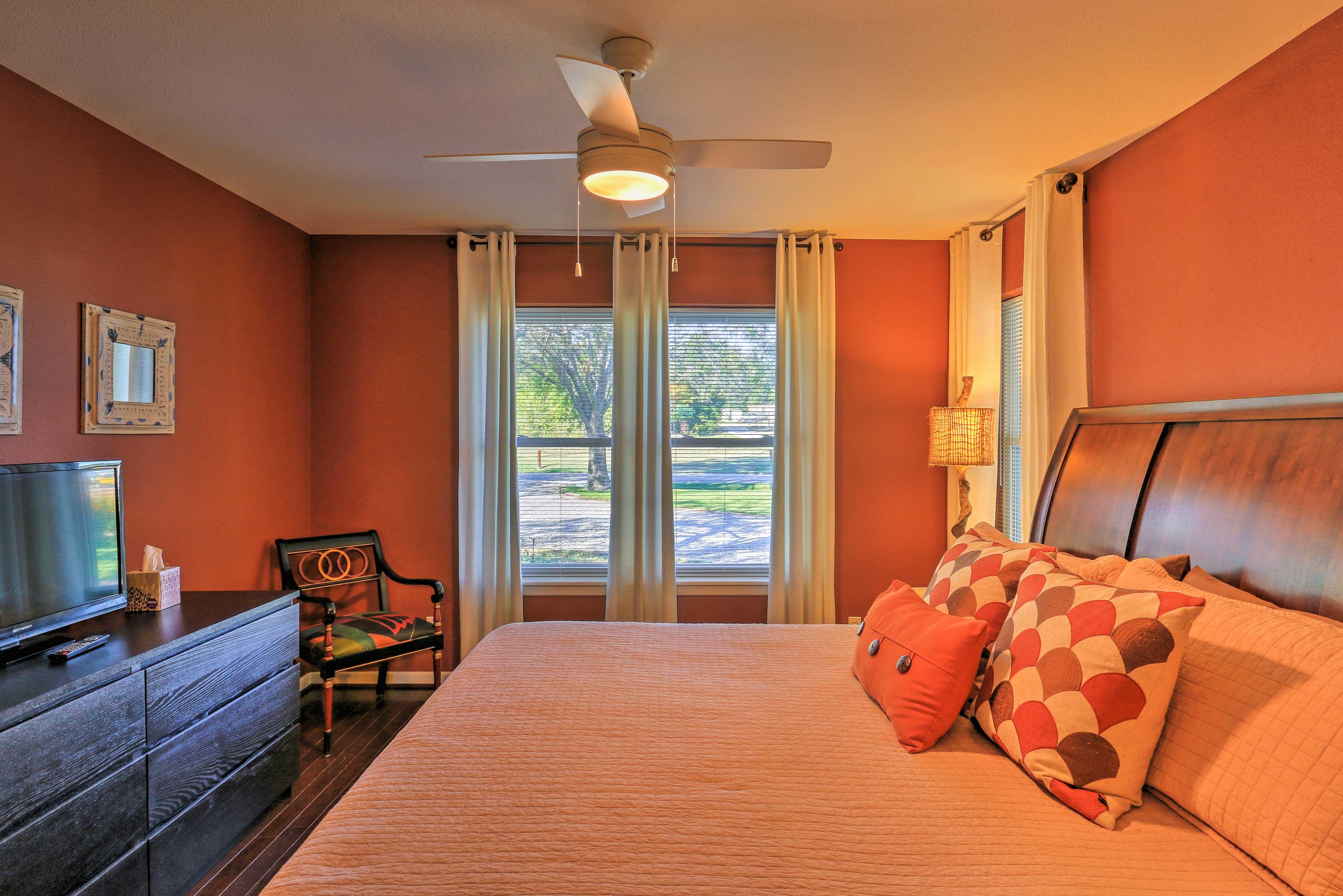 Enjoy restful slumbers in this master suite!