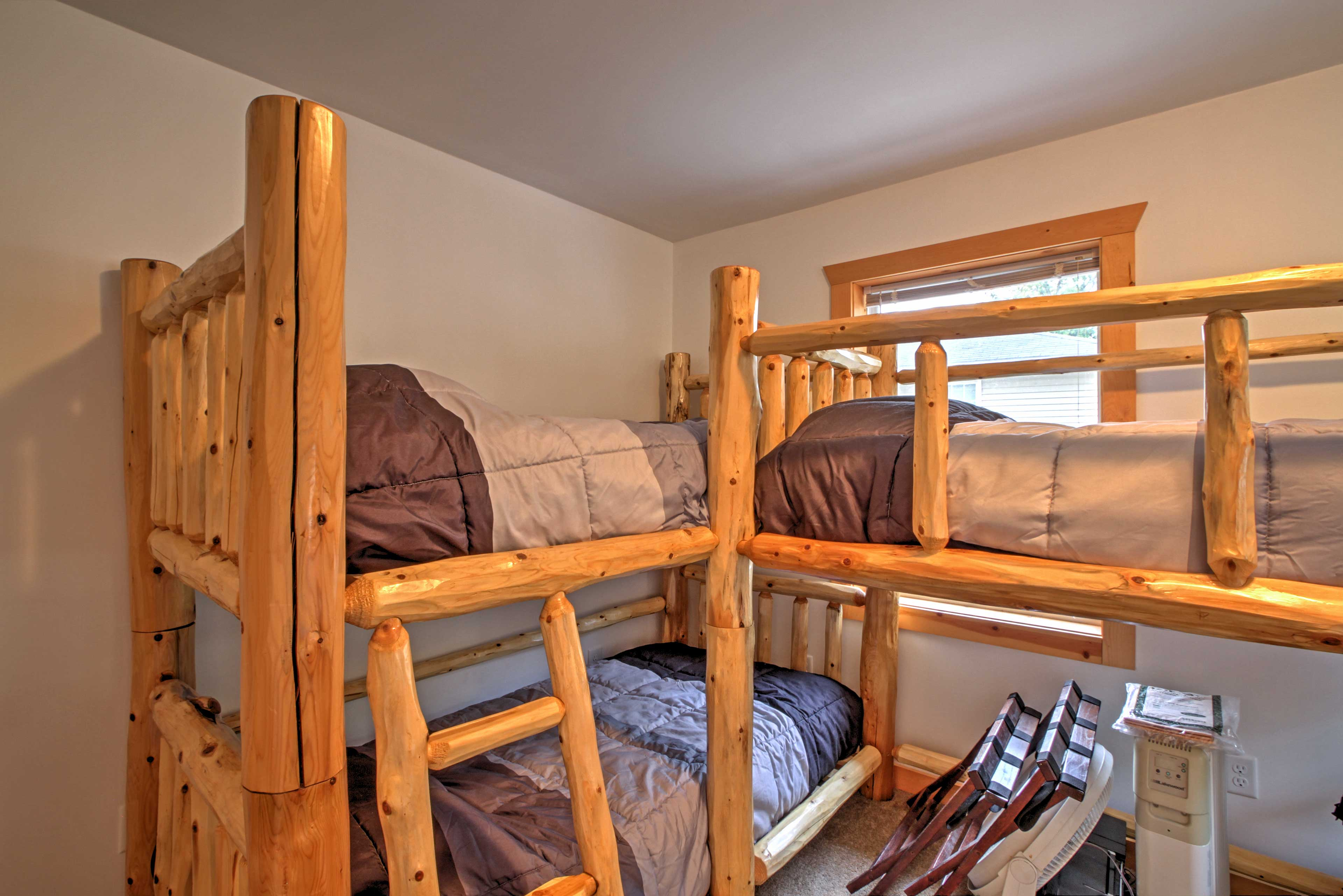 But first, tuck the kids into the bunk bed.