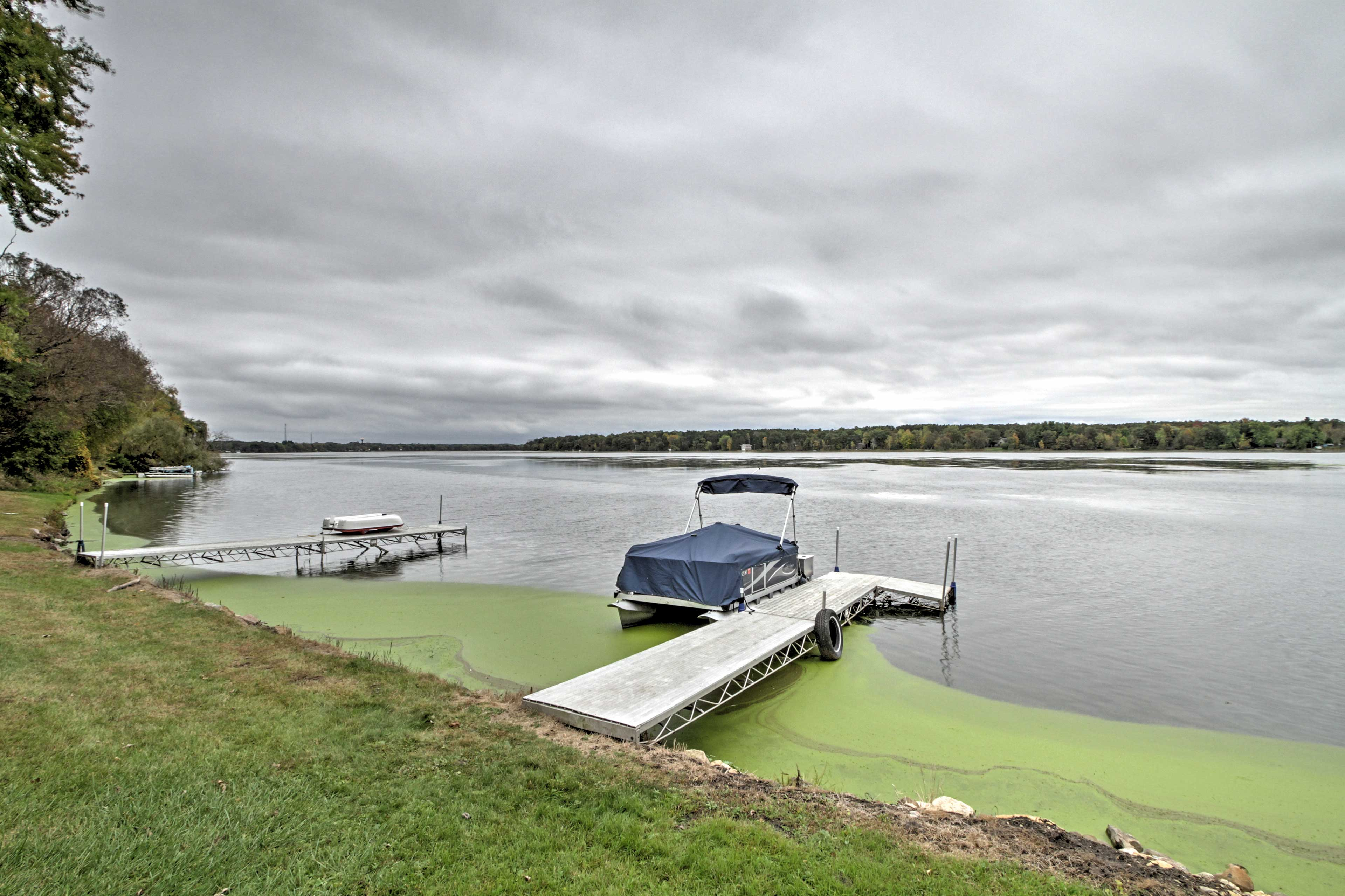 The dock is a great swim platform and also provides parking for your boat.