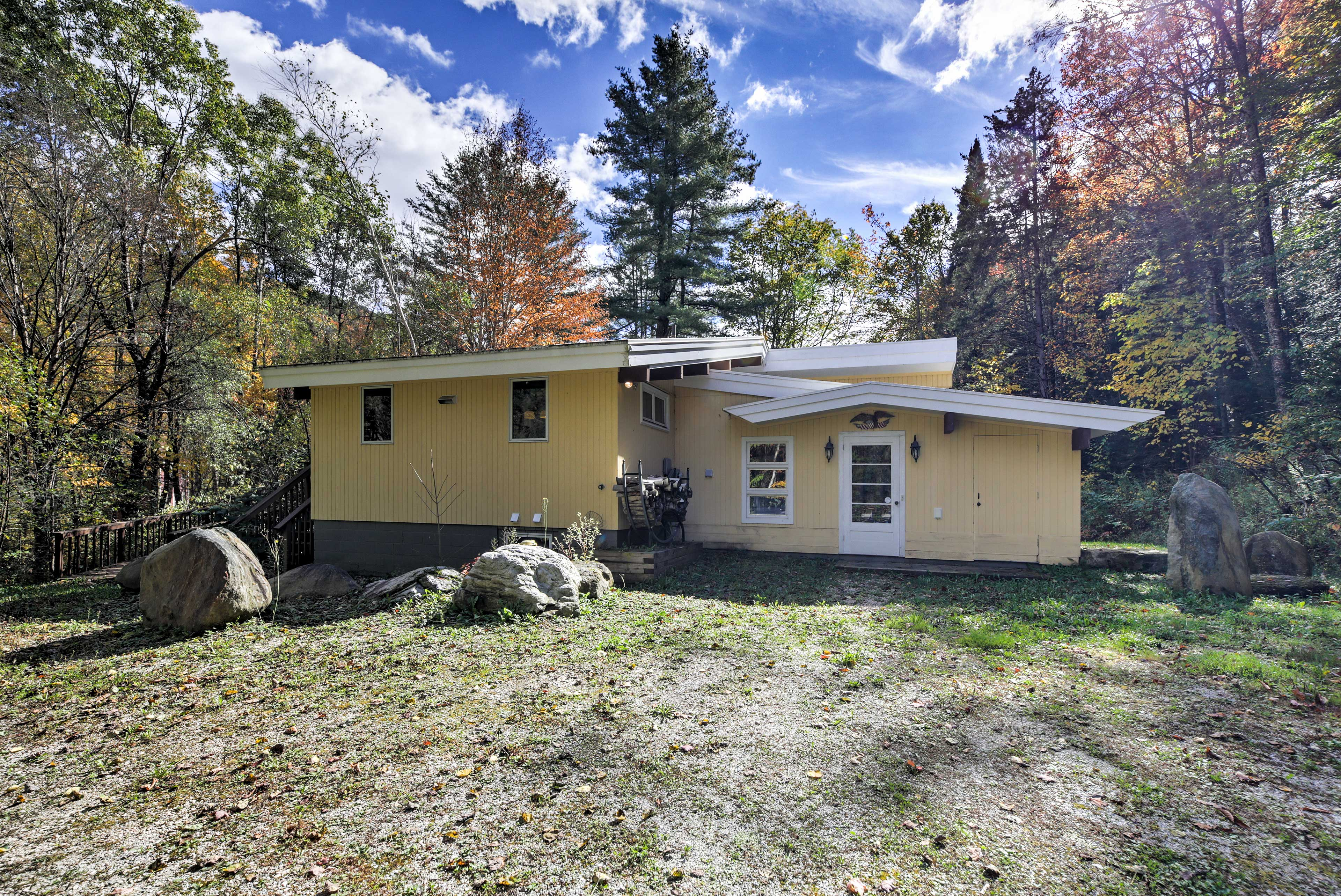 Situated on 77 acres, this property lets 14 admire all of the beauty of Vermont!