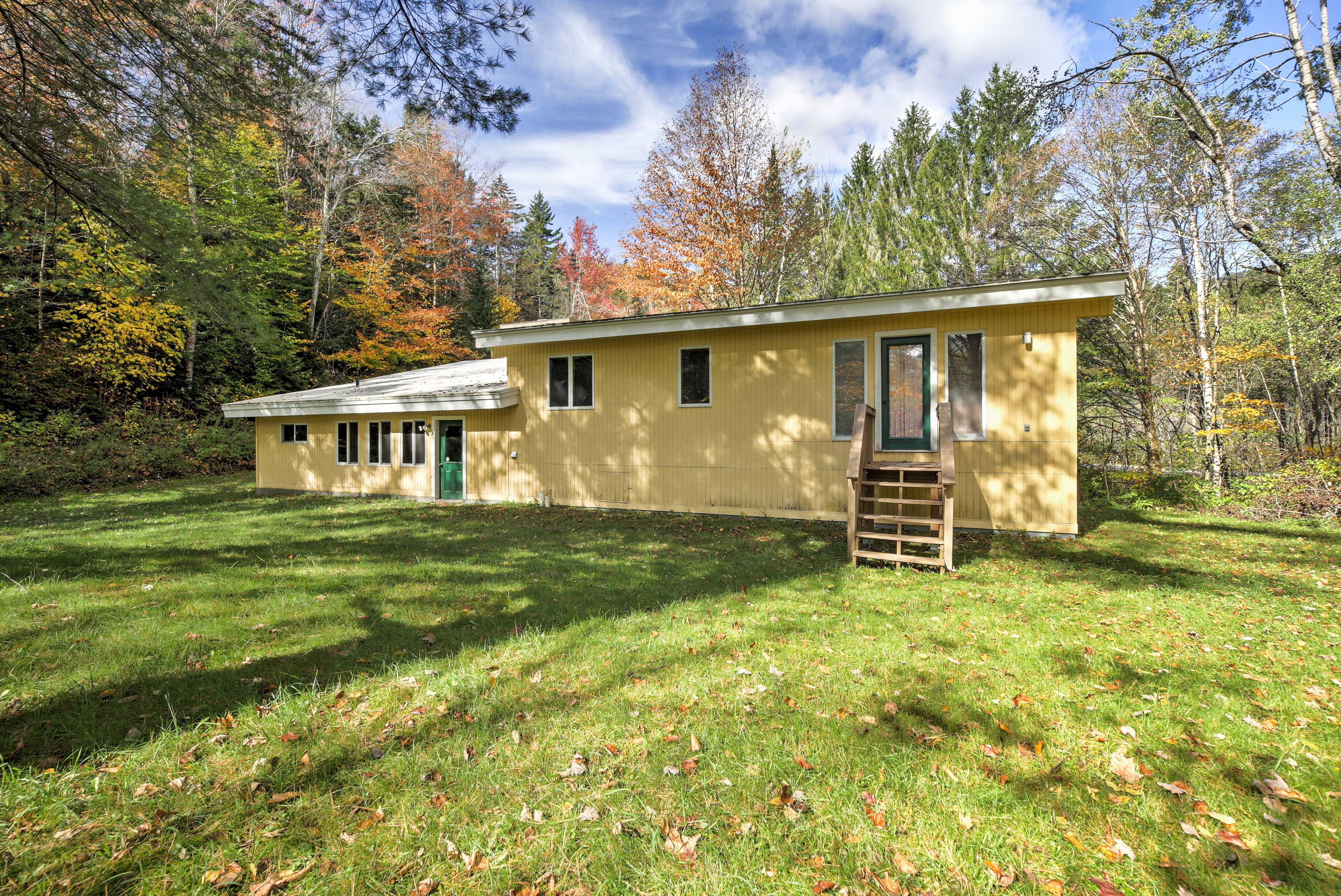 Explore this property along one of the hiking trails outside your door!