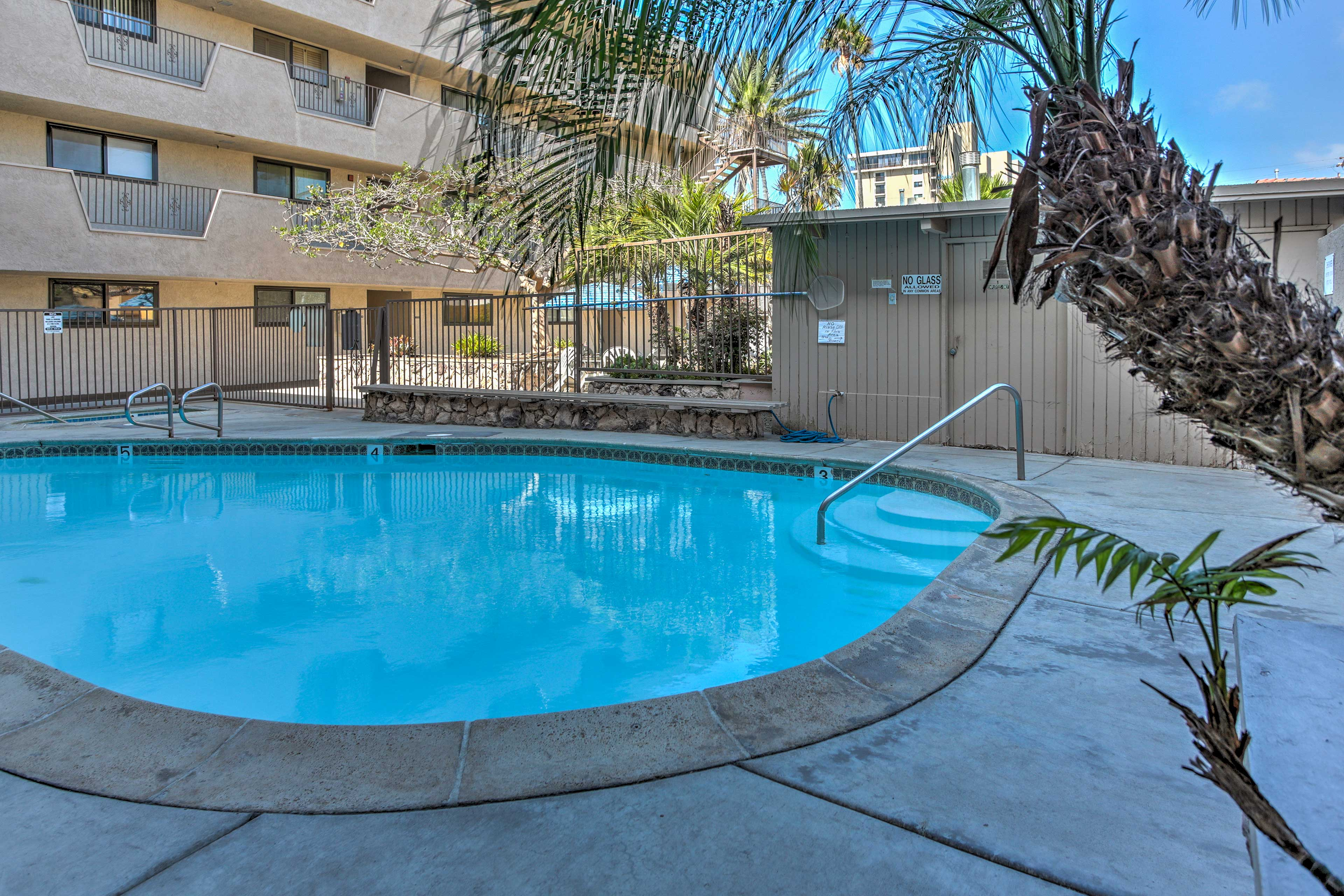 The community features a pool & hot tub for an afternoon dip or late night soak.