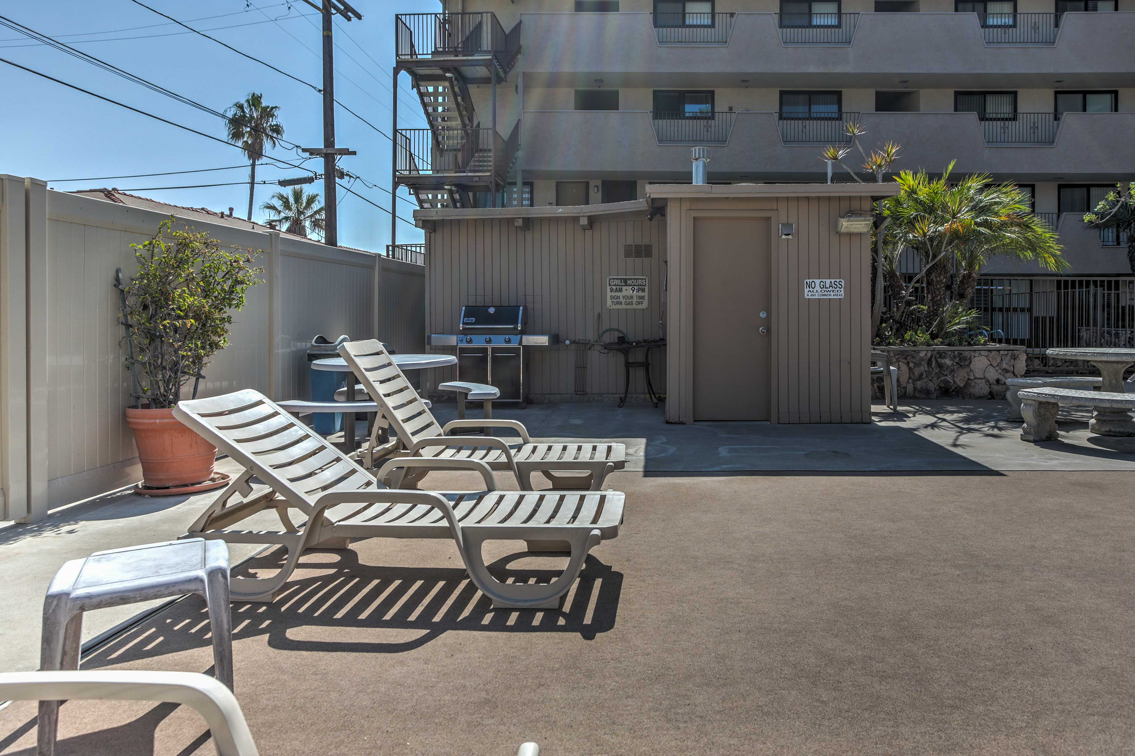 Claim a lounge chair and soak up some San Diego sun by the community pool.