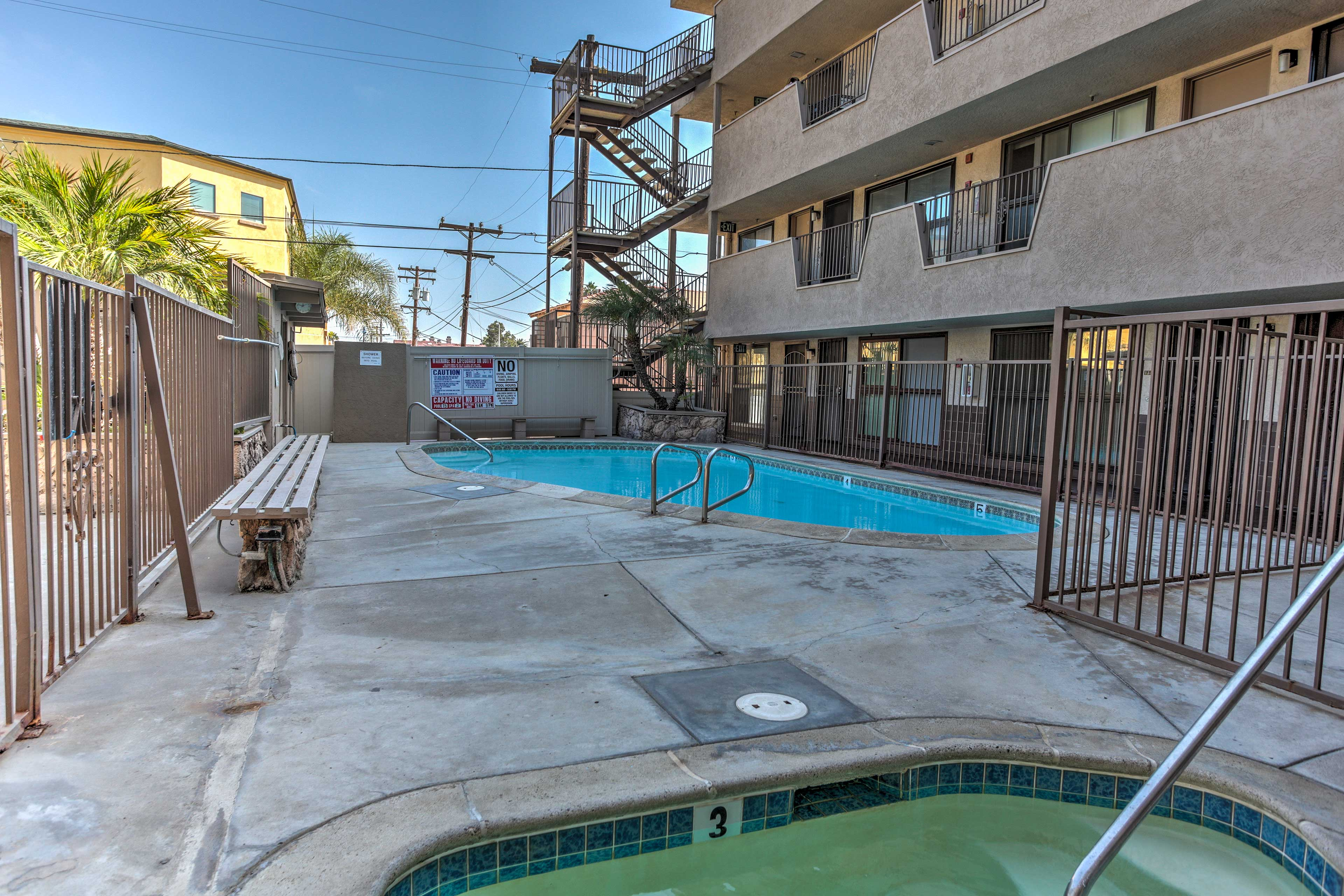 With access to the beach and boardwalk, this condo lets you explore San Diego!