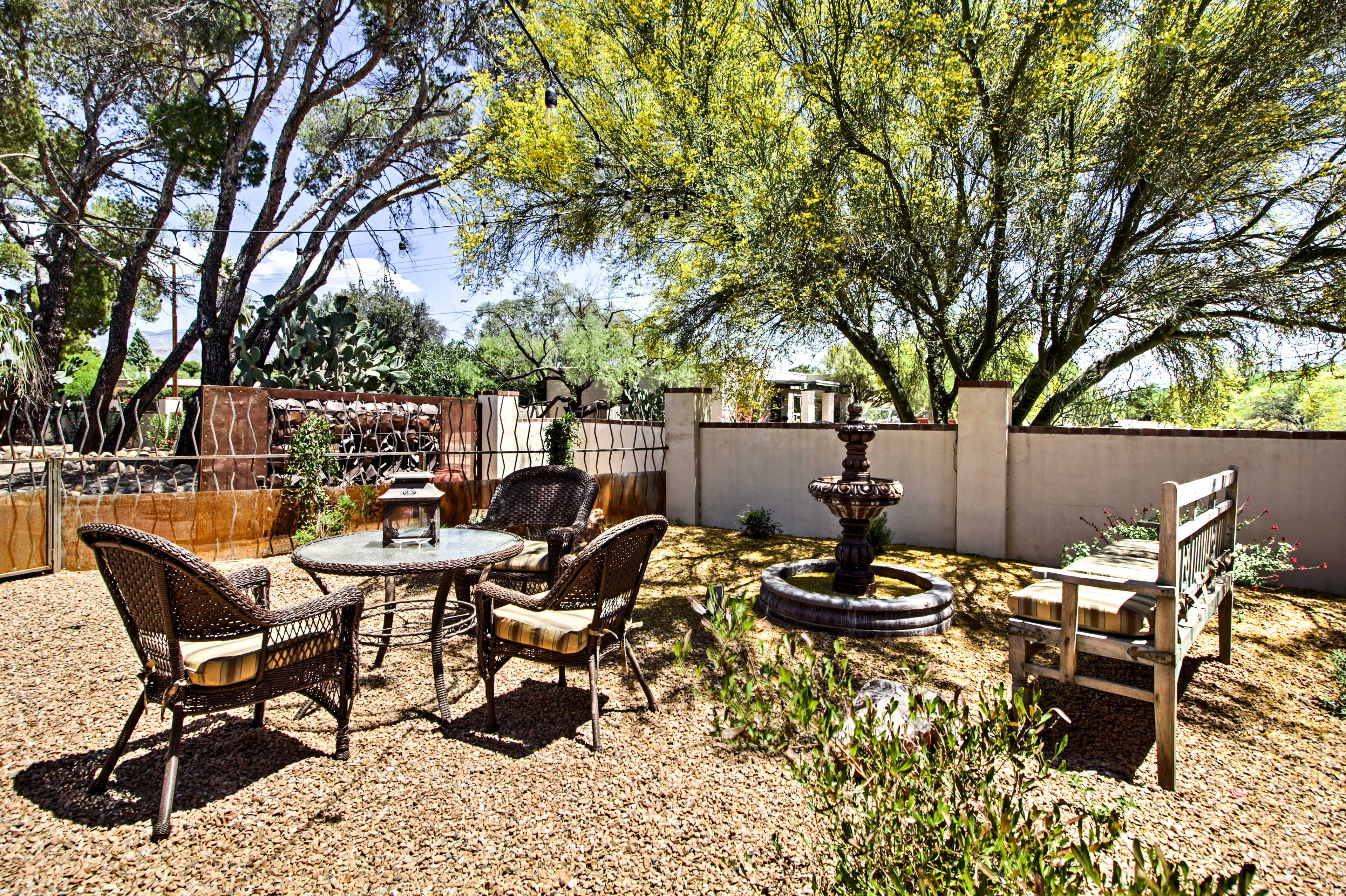 Enjoy picnics at one of several outdoor seating areas.