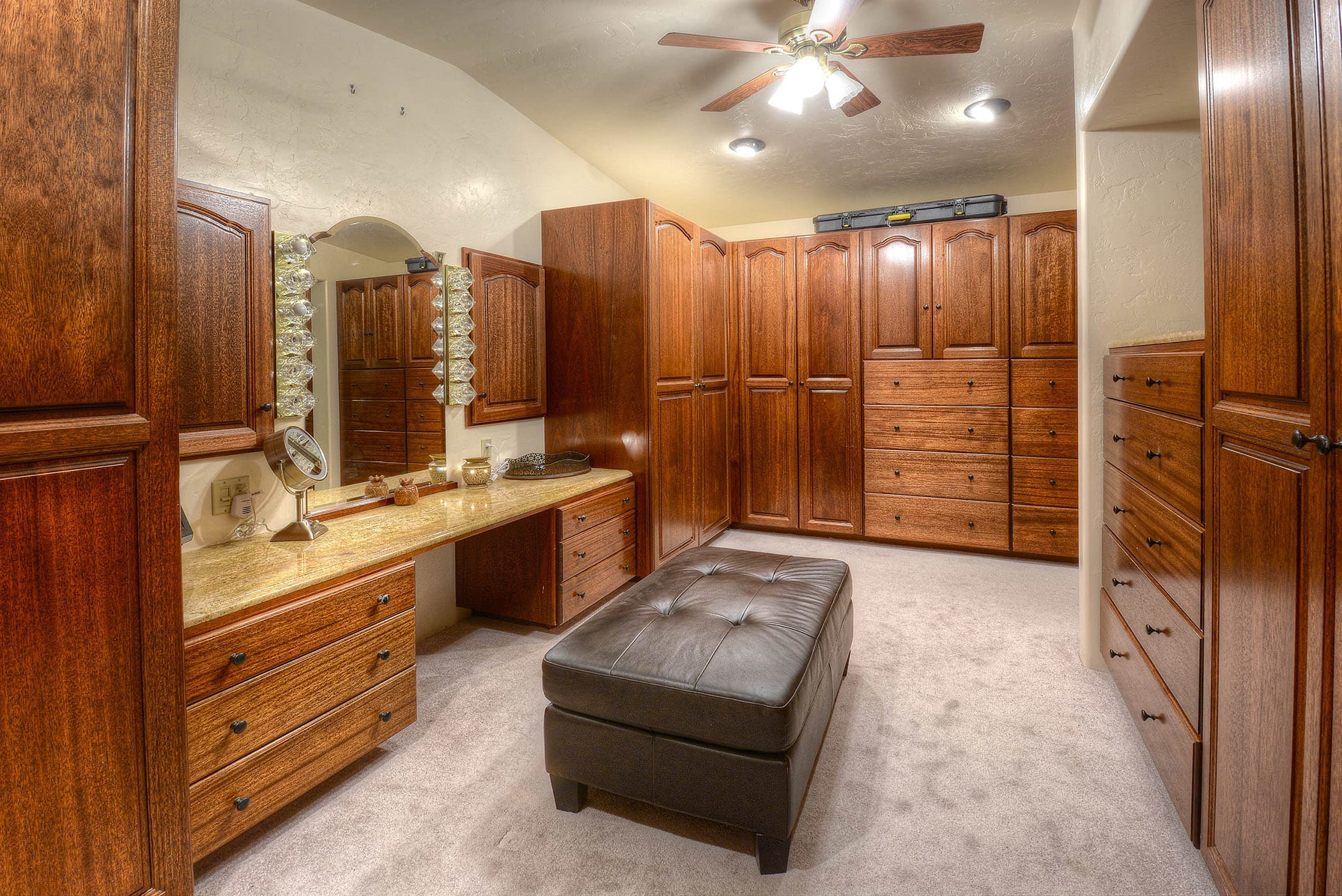 Store all of your belongings in the expansive walk-in closet.