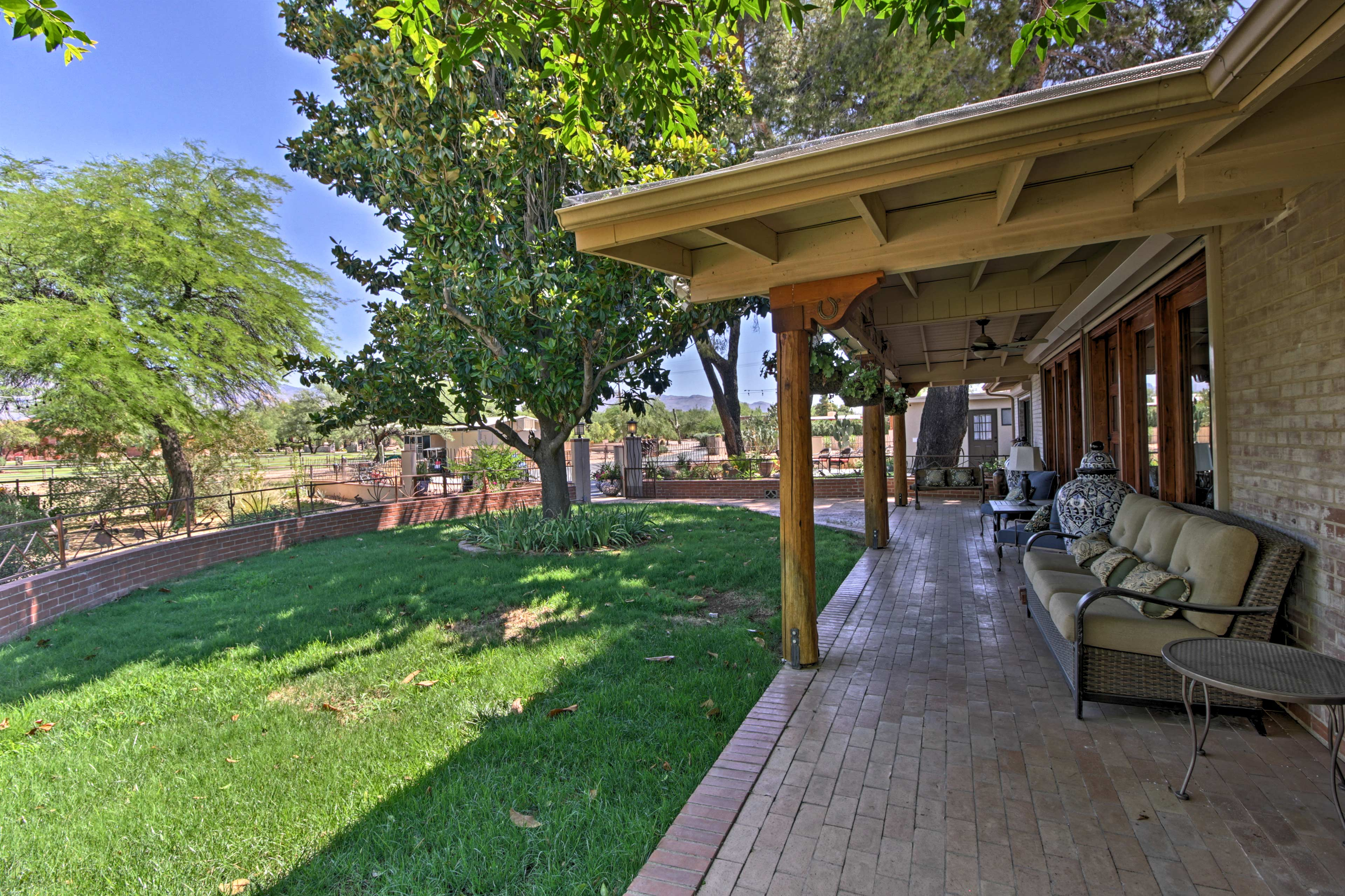 Sip a glass of sweet tea on the expansive porch.