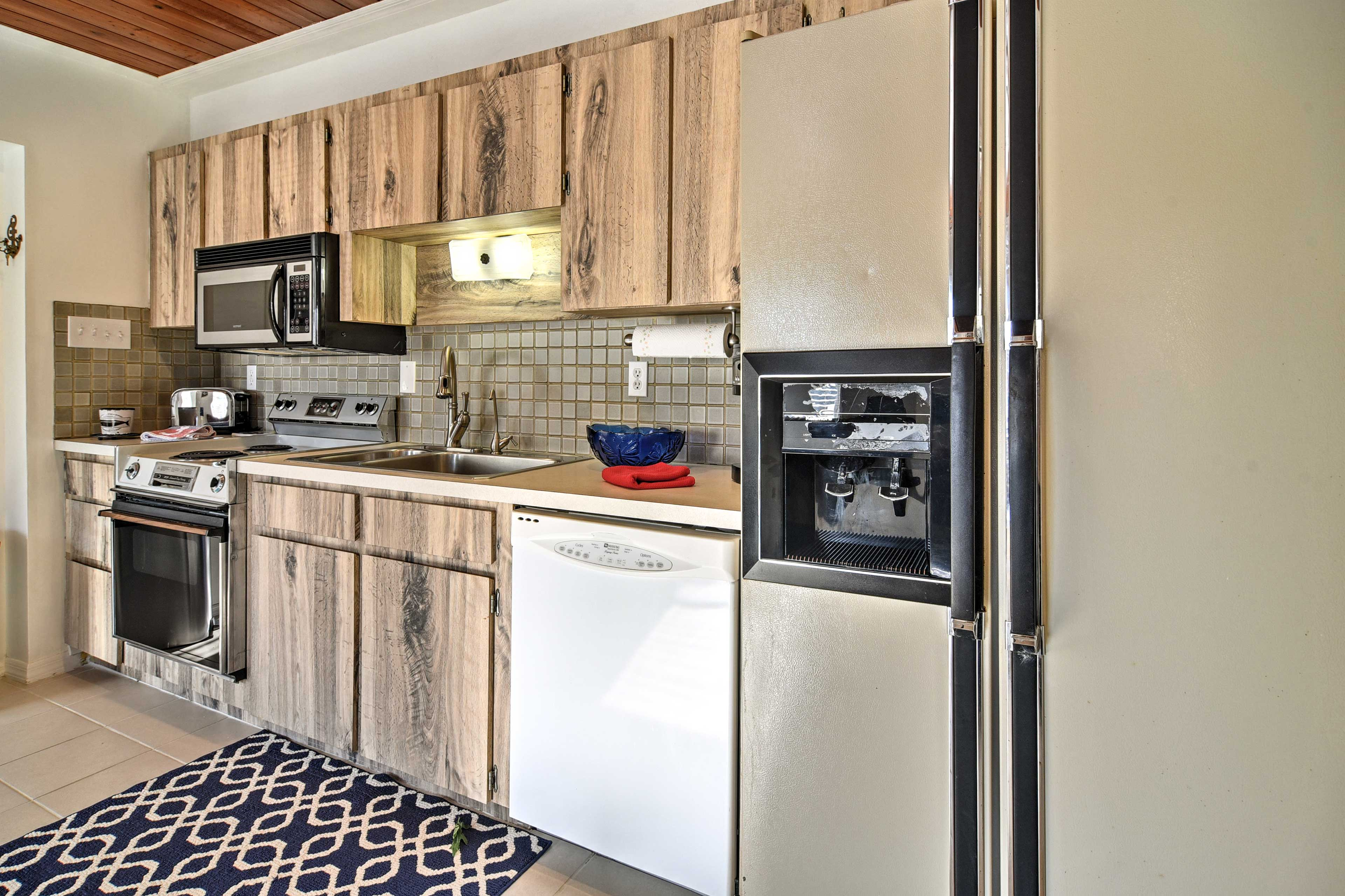 A dishwasher adds the convenience of home to your stay.