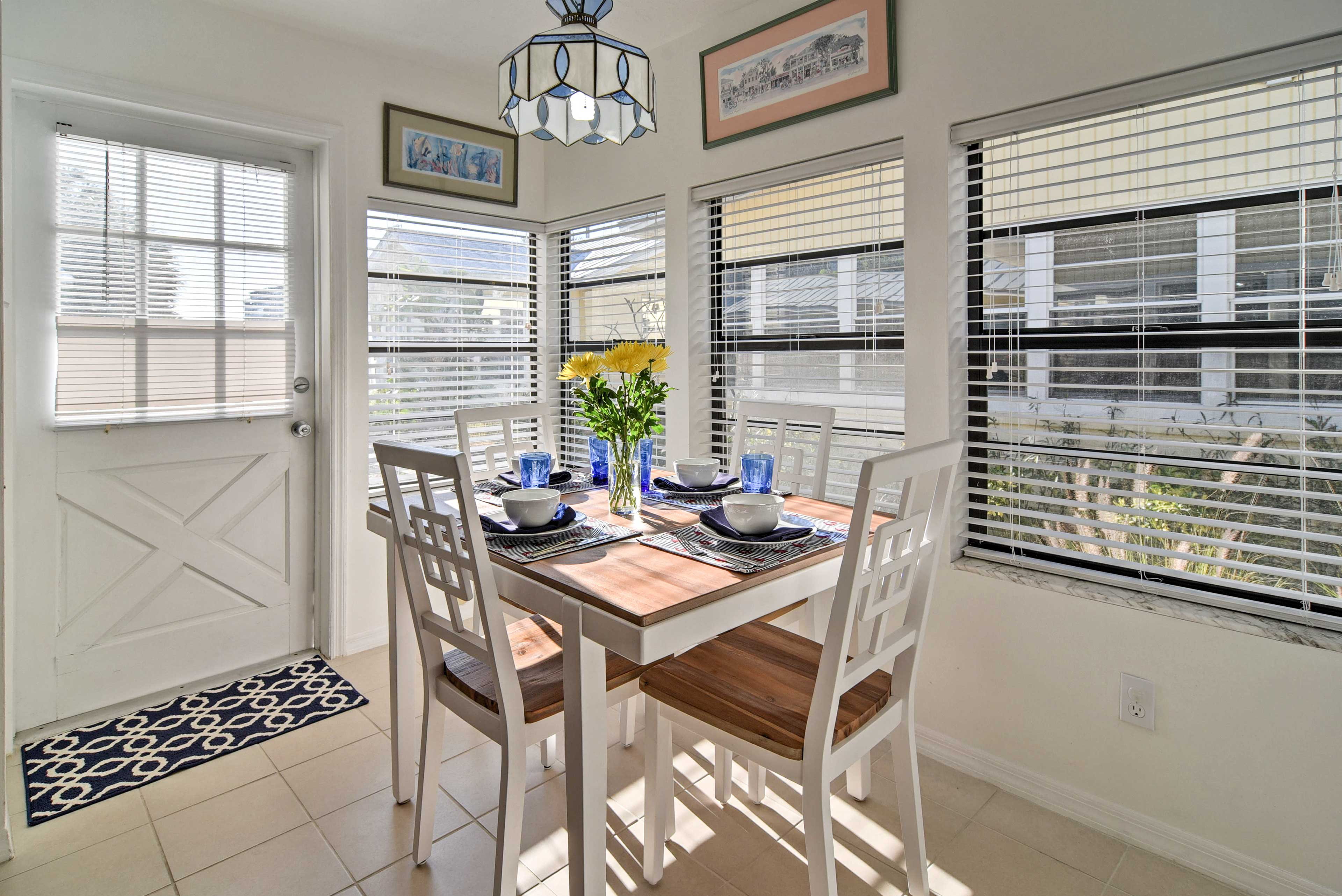 Share home-cooked meals under natural light.