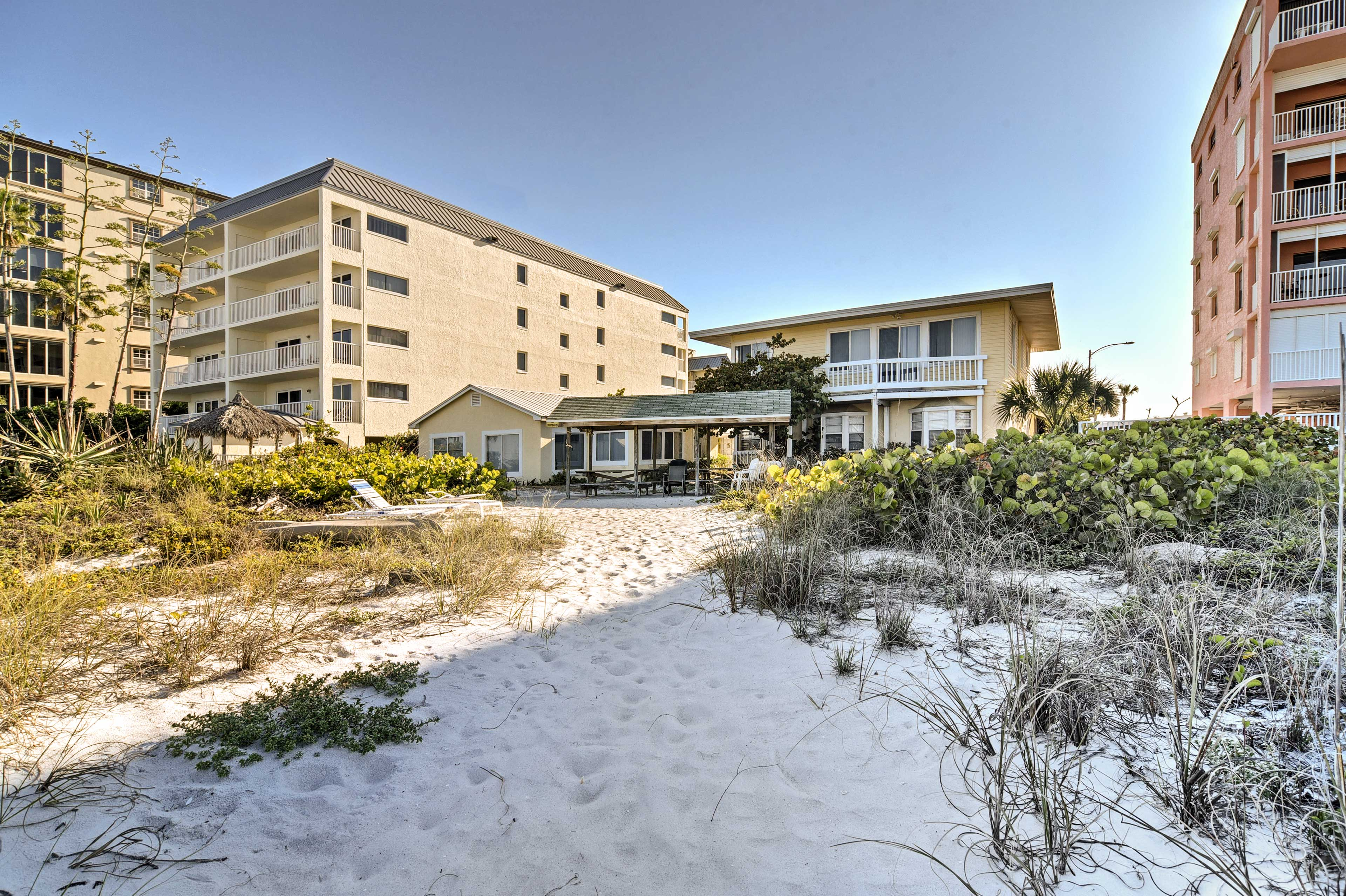 Soft white sands await your stay!