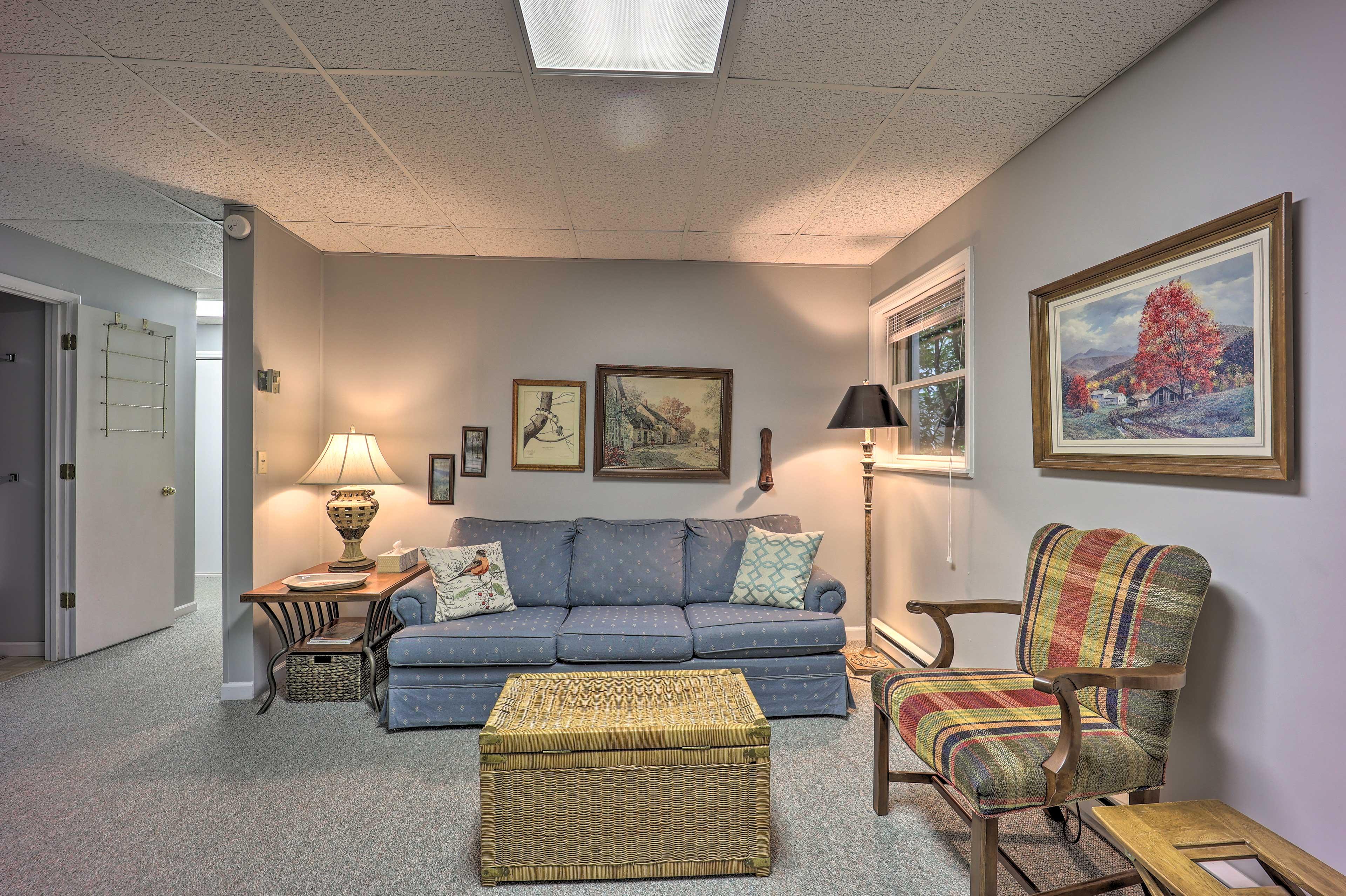 Lower-Level Living Room | Free WiFi
