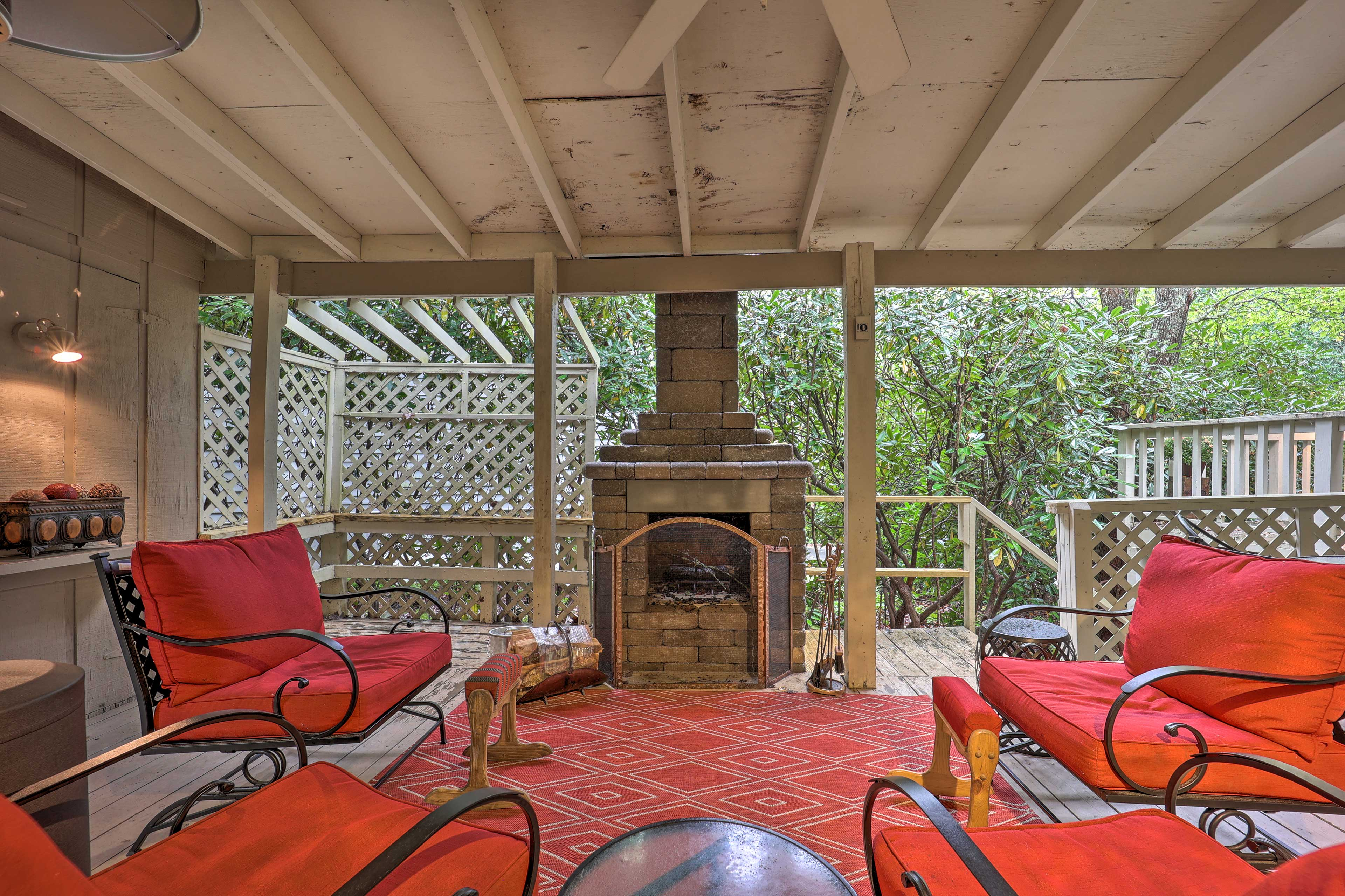 Covered Outdoor Space | New Wood-Burning Fireplace