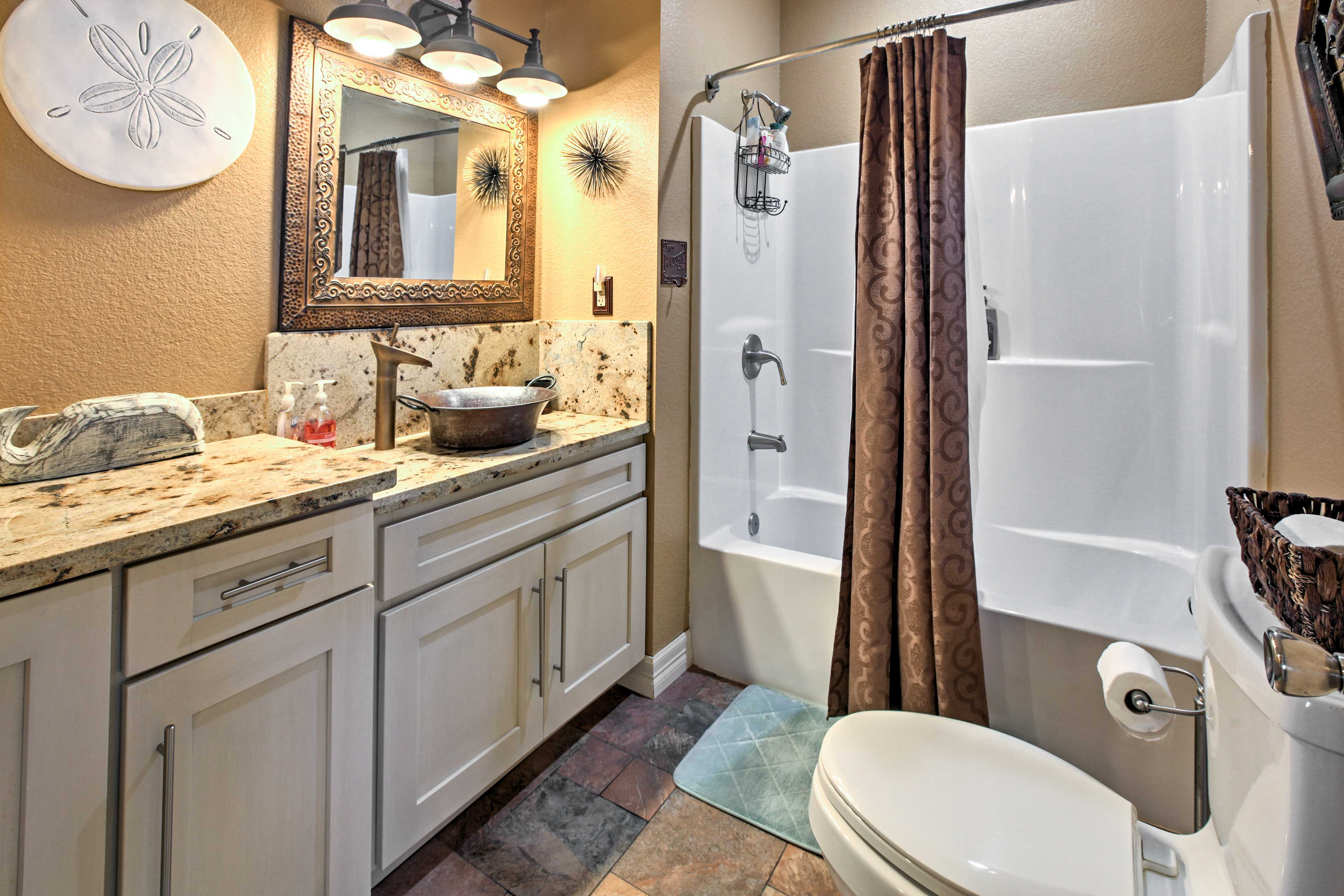 It'll be easy to stick to your morning routine in this upgraded bathroom.