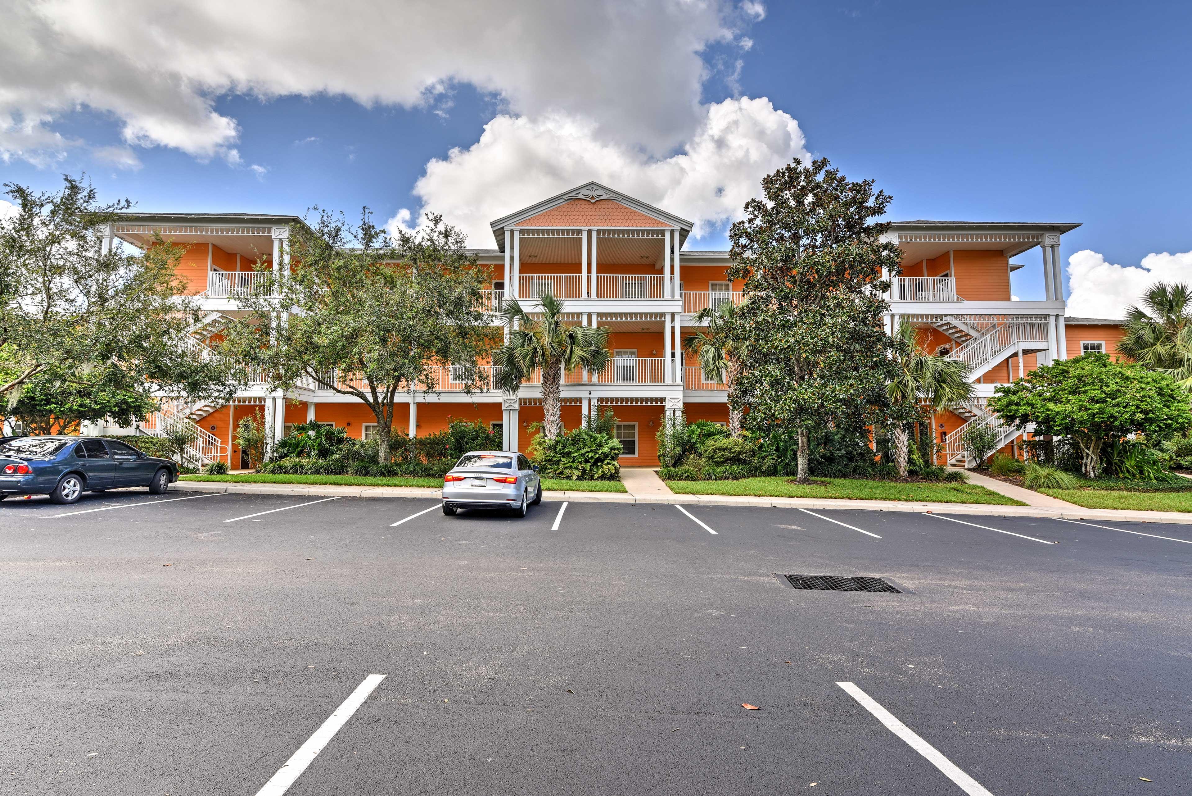 Building Exterior   3rd Floor Unit   Community Parking Lot (2 Vehicles)