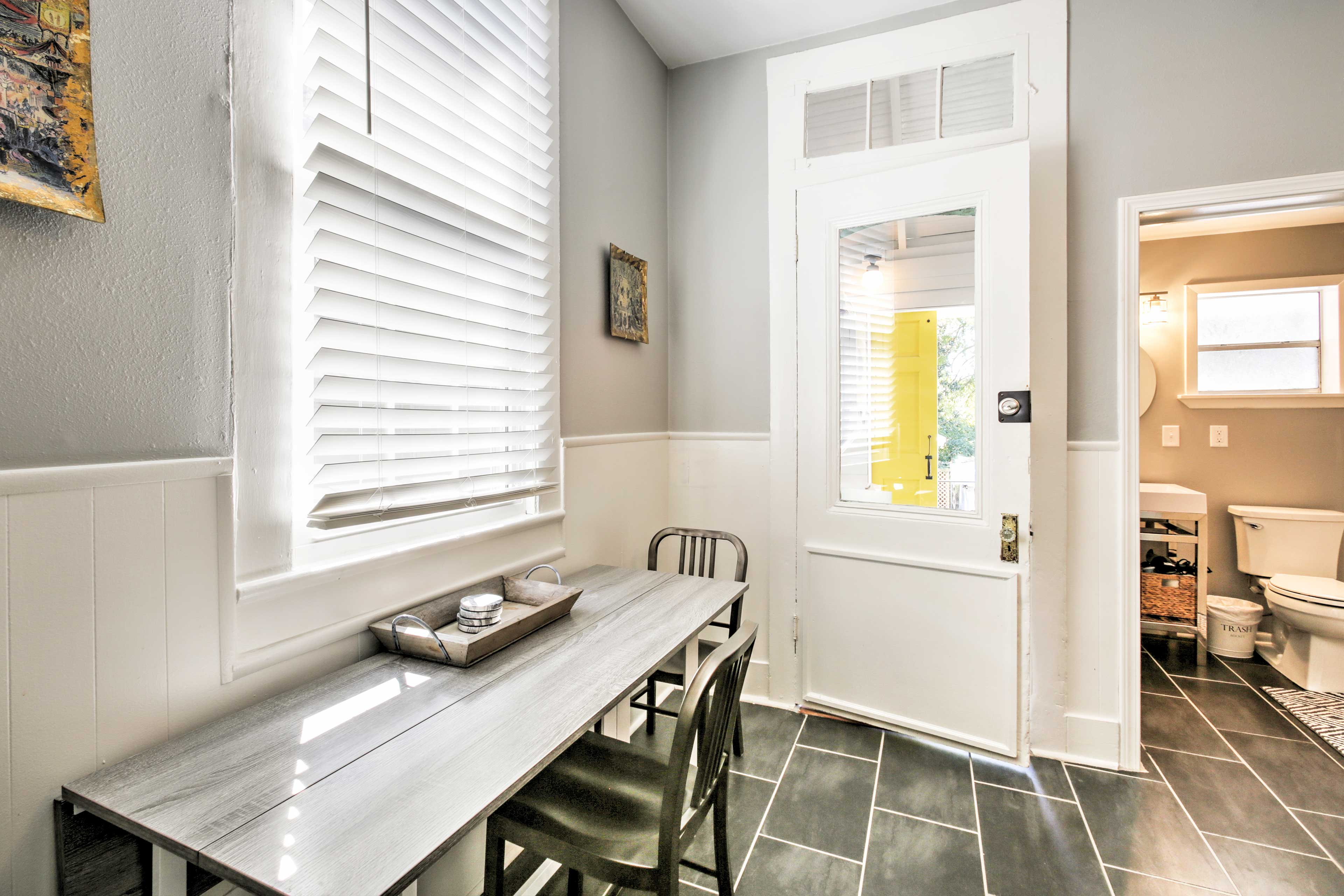 Enjoy home-cooked meals from the 3-person dining table.