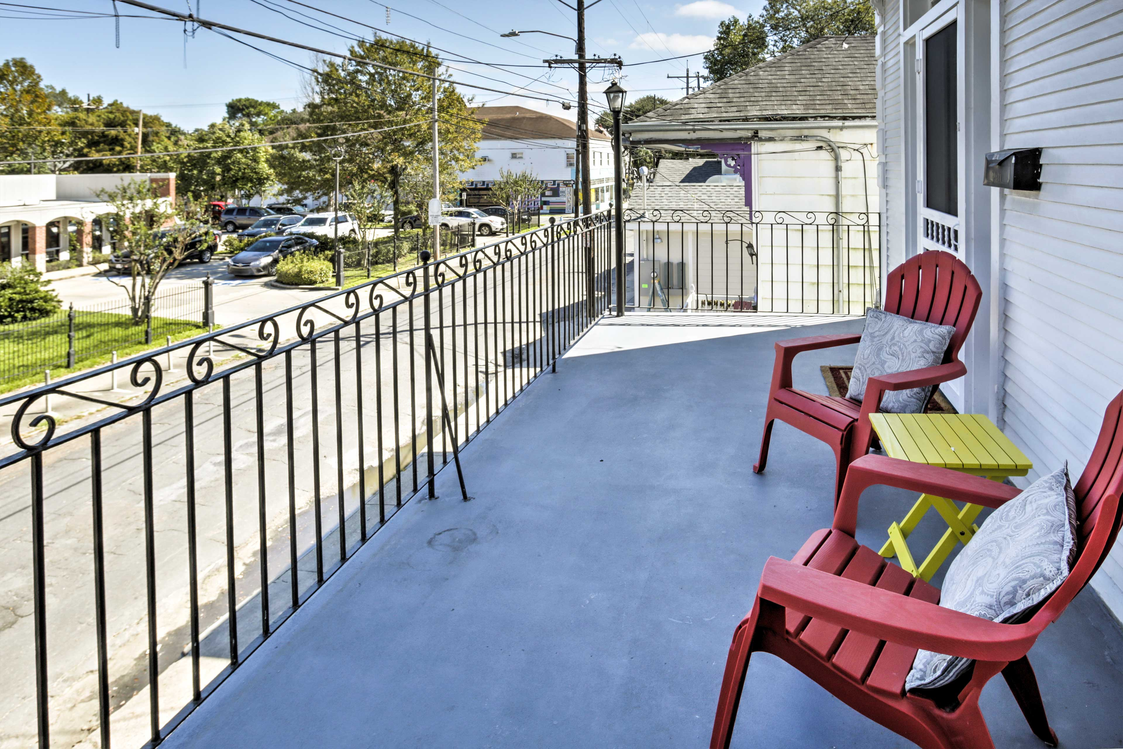 Enjoy views of the famous annual Mardi Gras festival that passes just below the property!