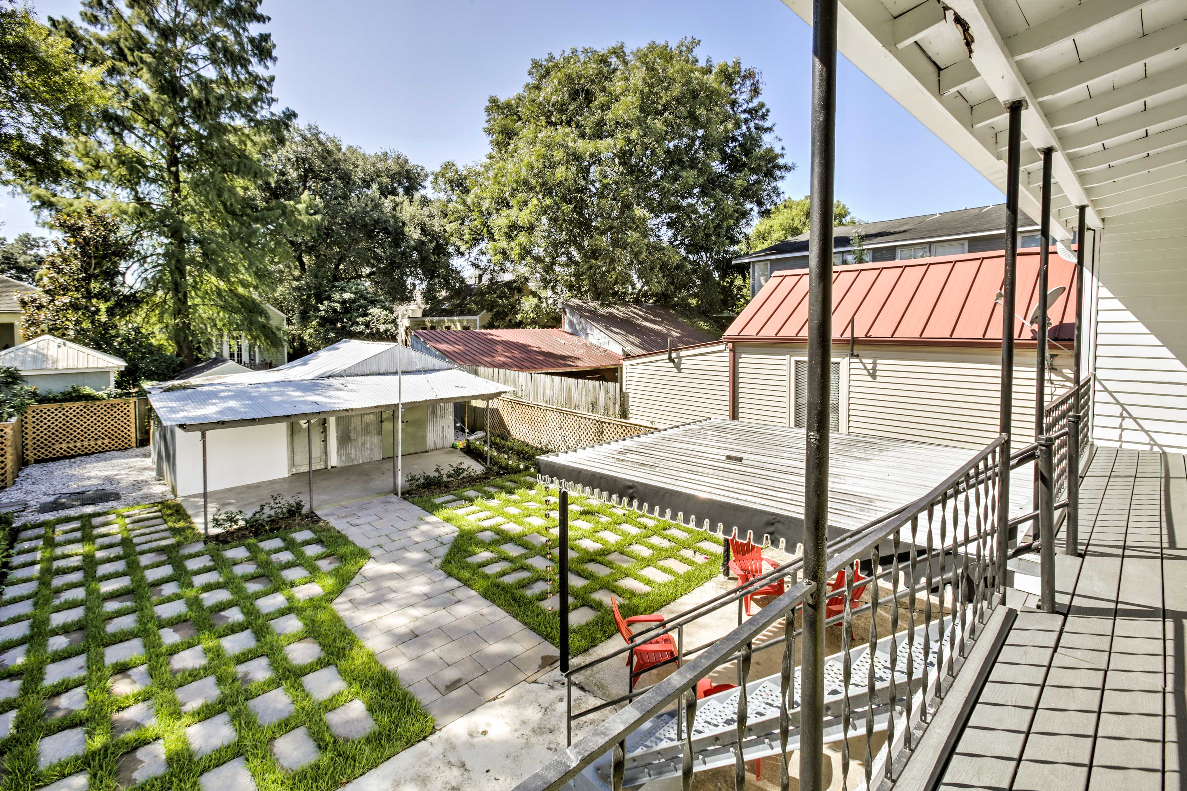 Head down to the backyard to find a newly landscaped and spacious outdoor area.