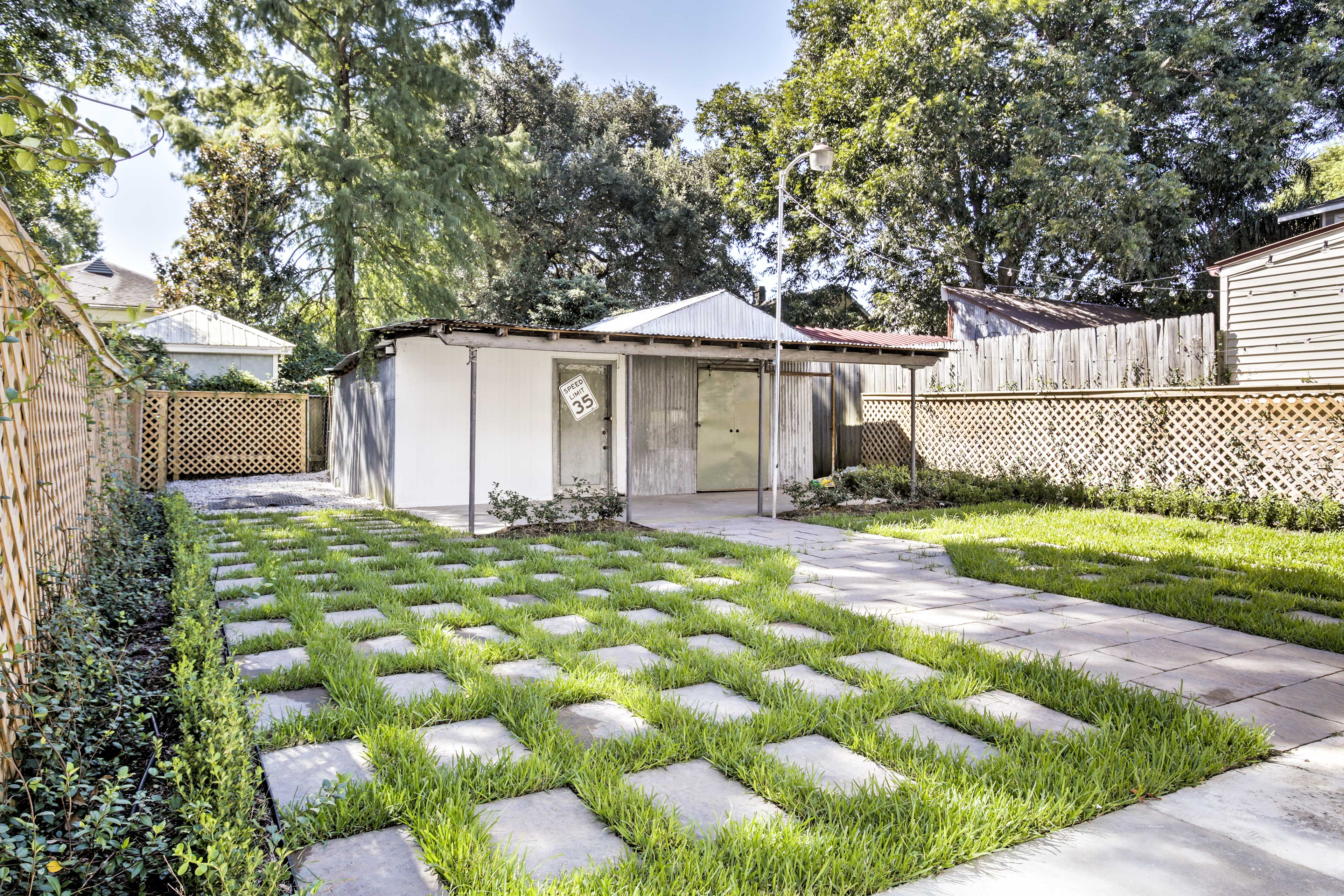 You're ensured peace and privacy from the fenced backyard!