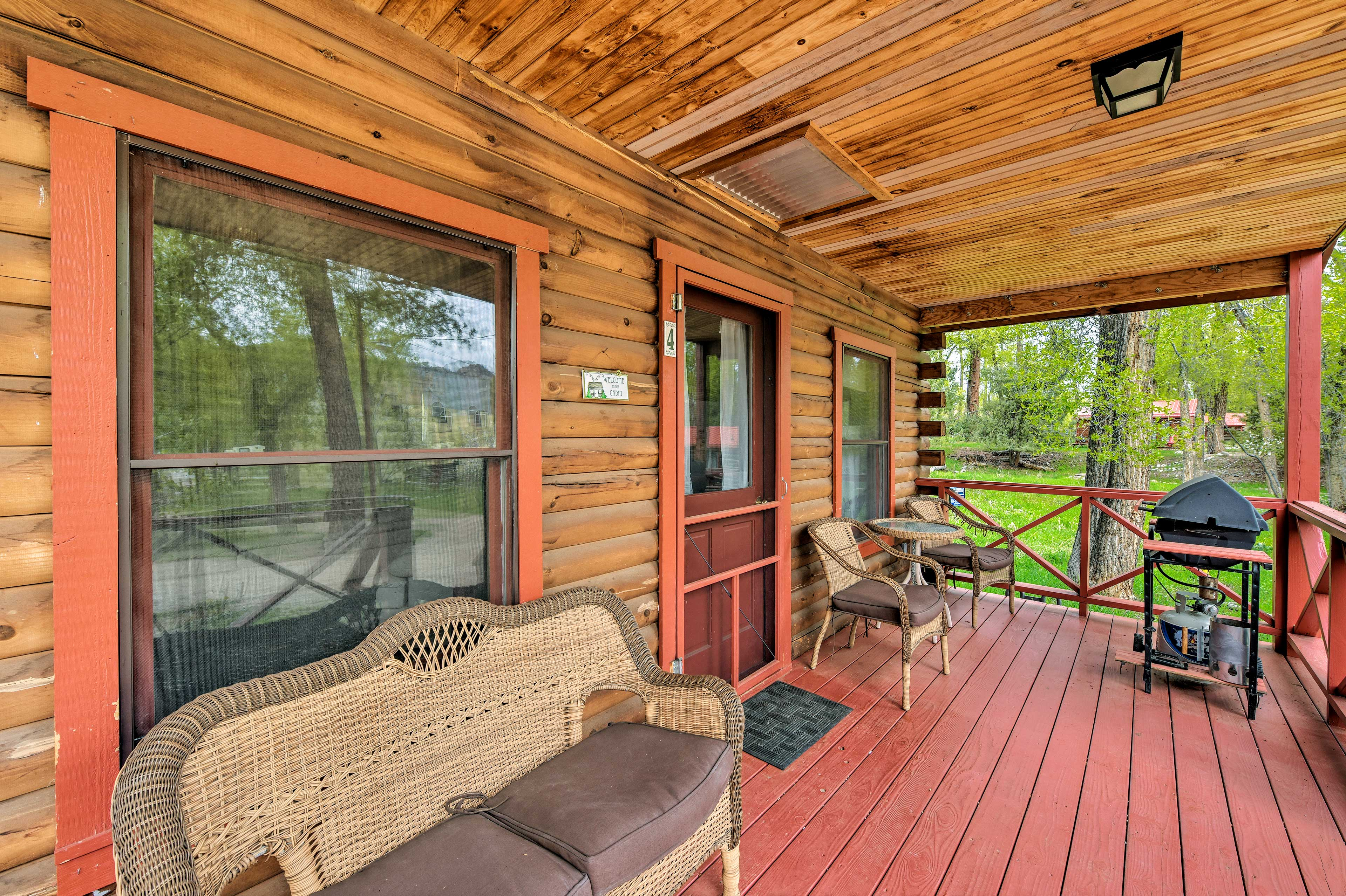 Enjoy a morning coffee on the covered front porch.