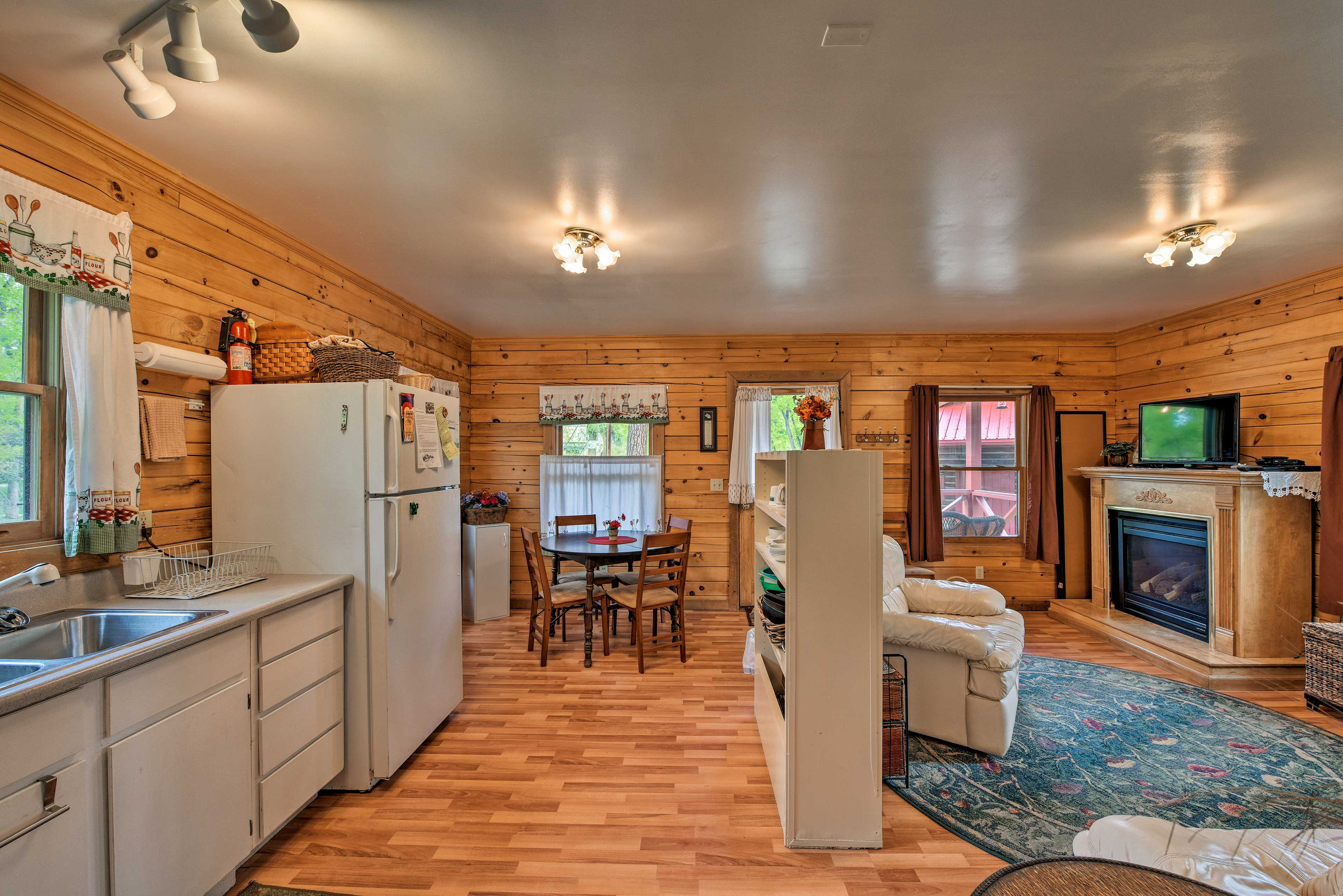 The open floor plan allows the home to feel even more open.