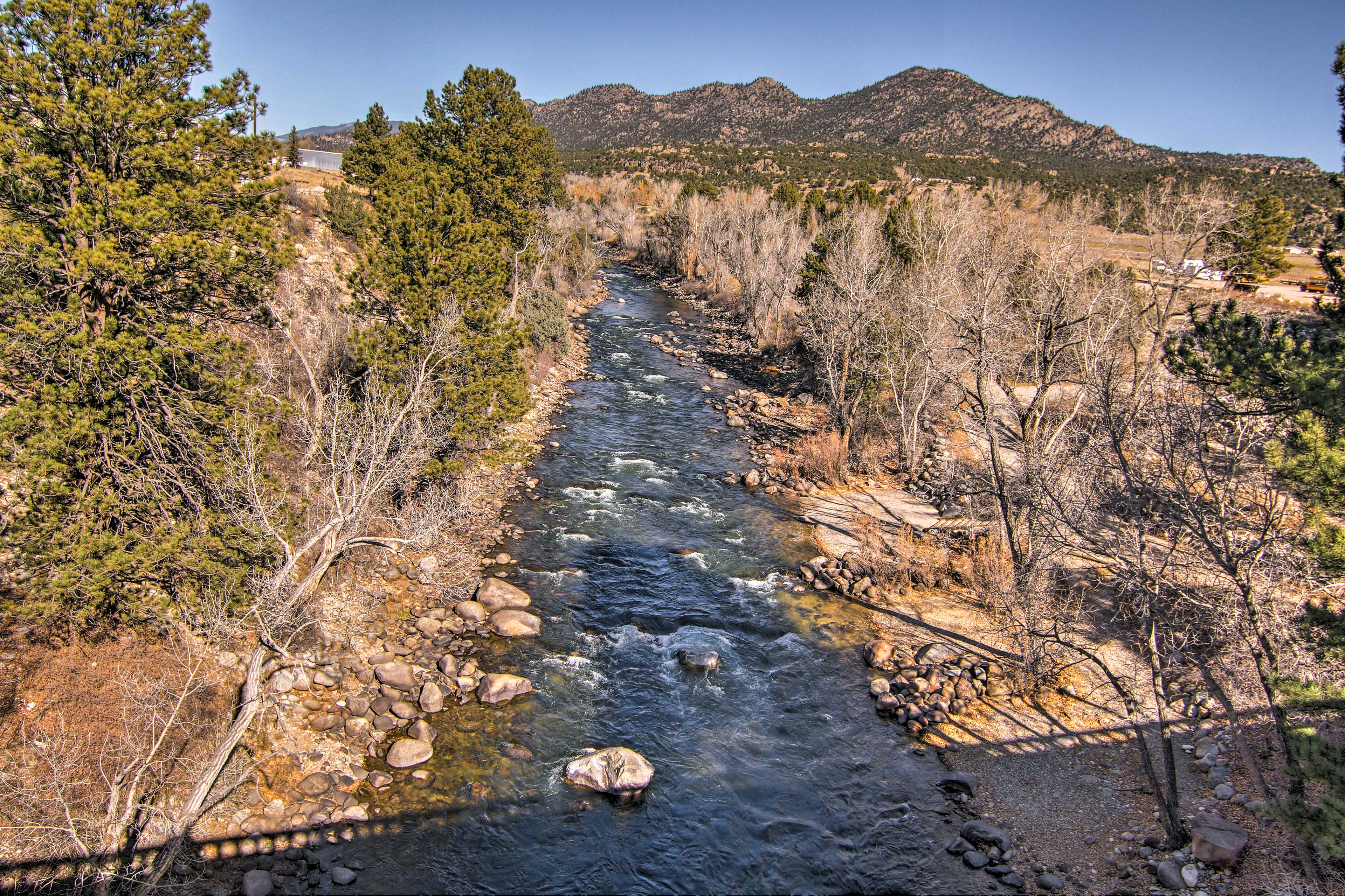 Walk down to the mighty Arkansas River!