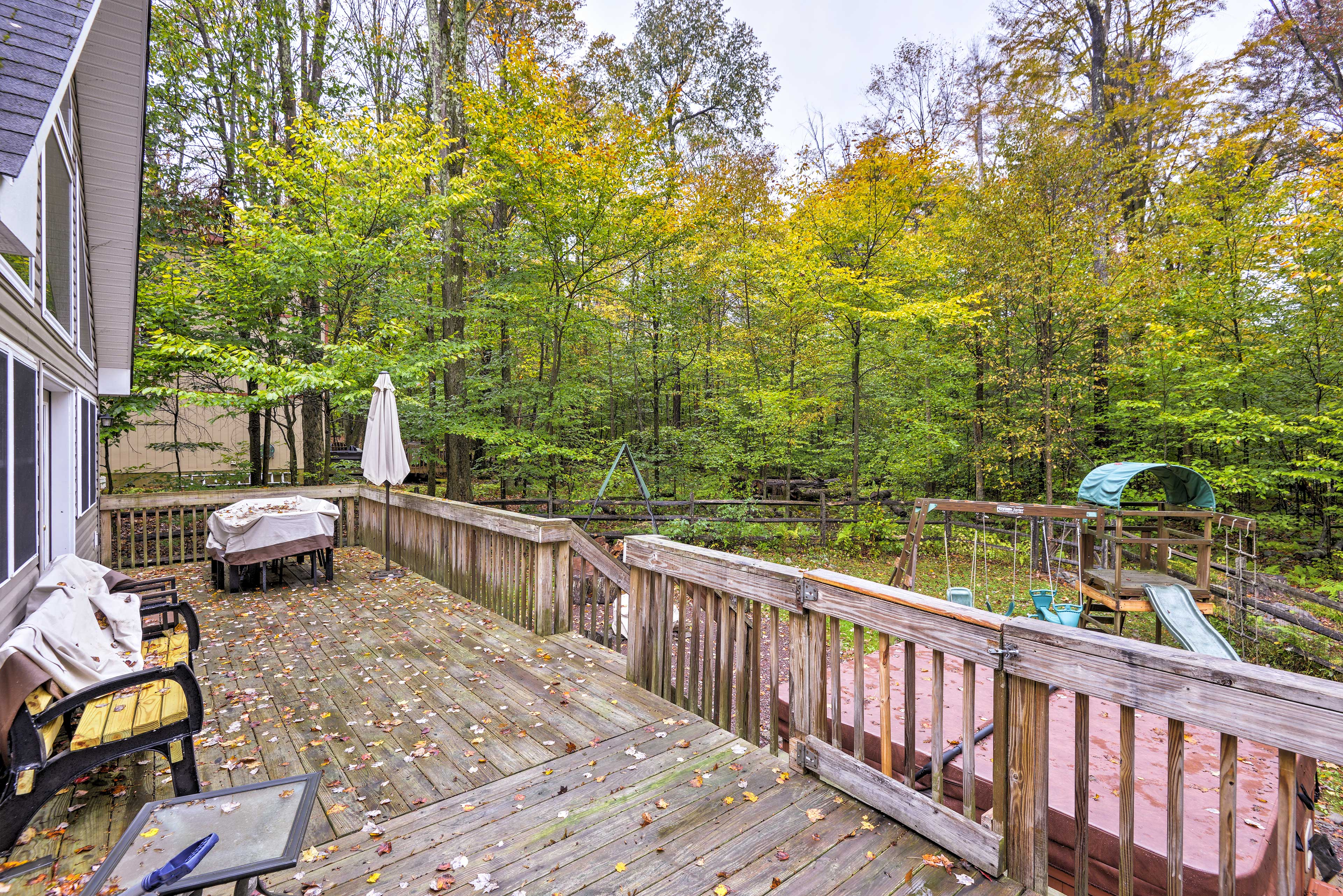 Step out to your private deck and fire up the grill for an afternoon barbecue.