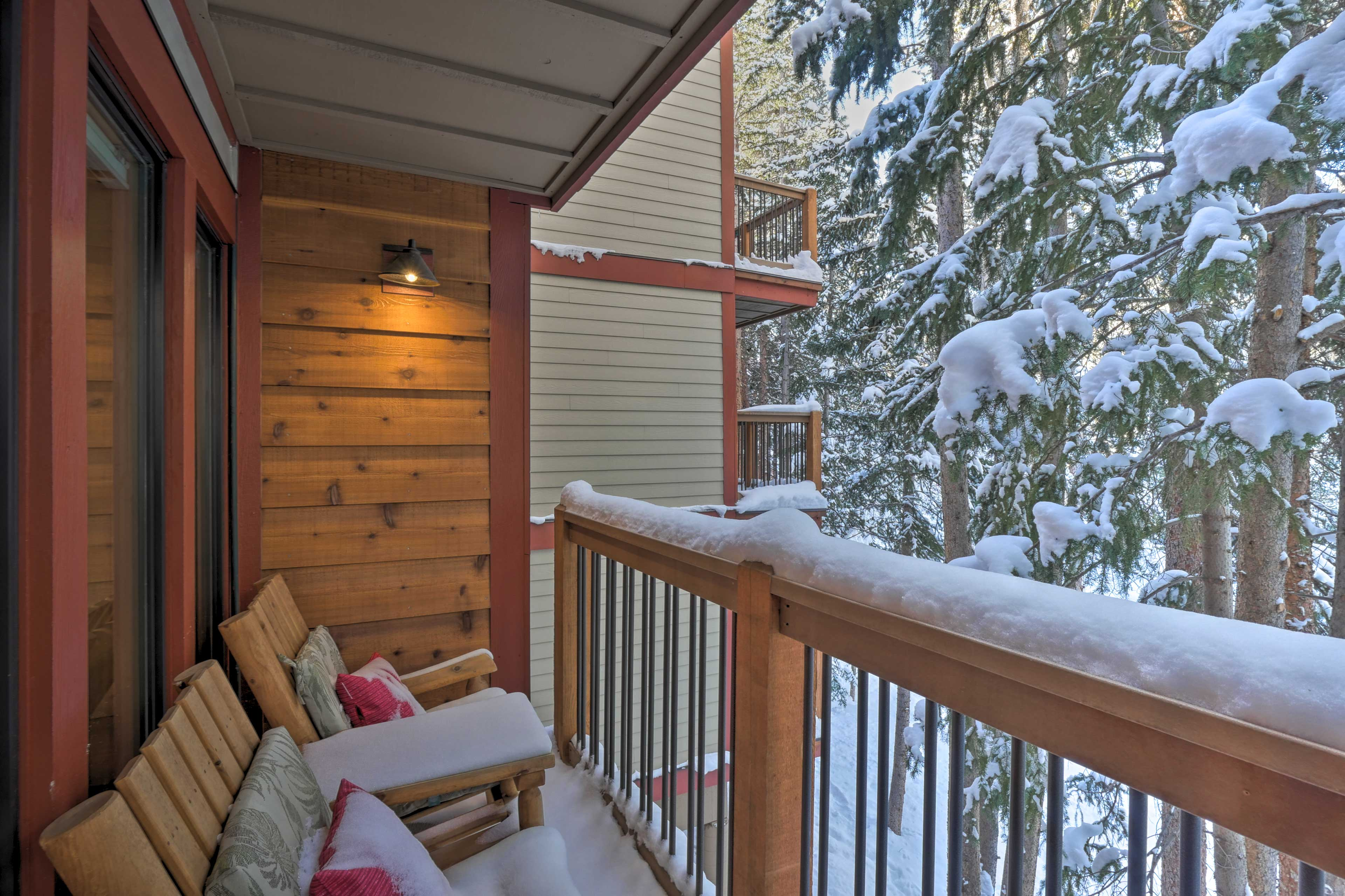 This property transforms into a winter wonderland when the snow falls!