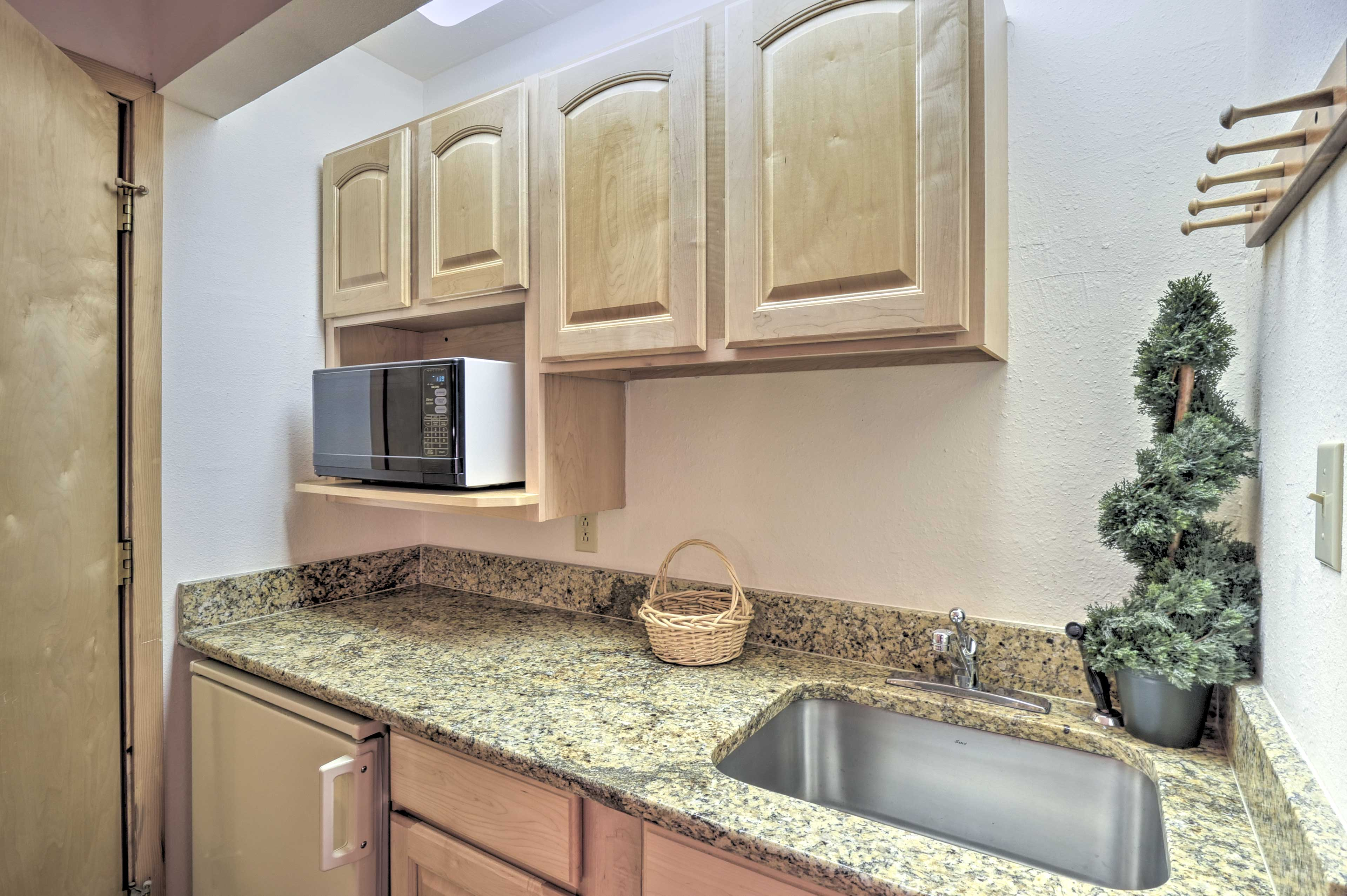 You'll love the convenience of the kitchenette.