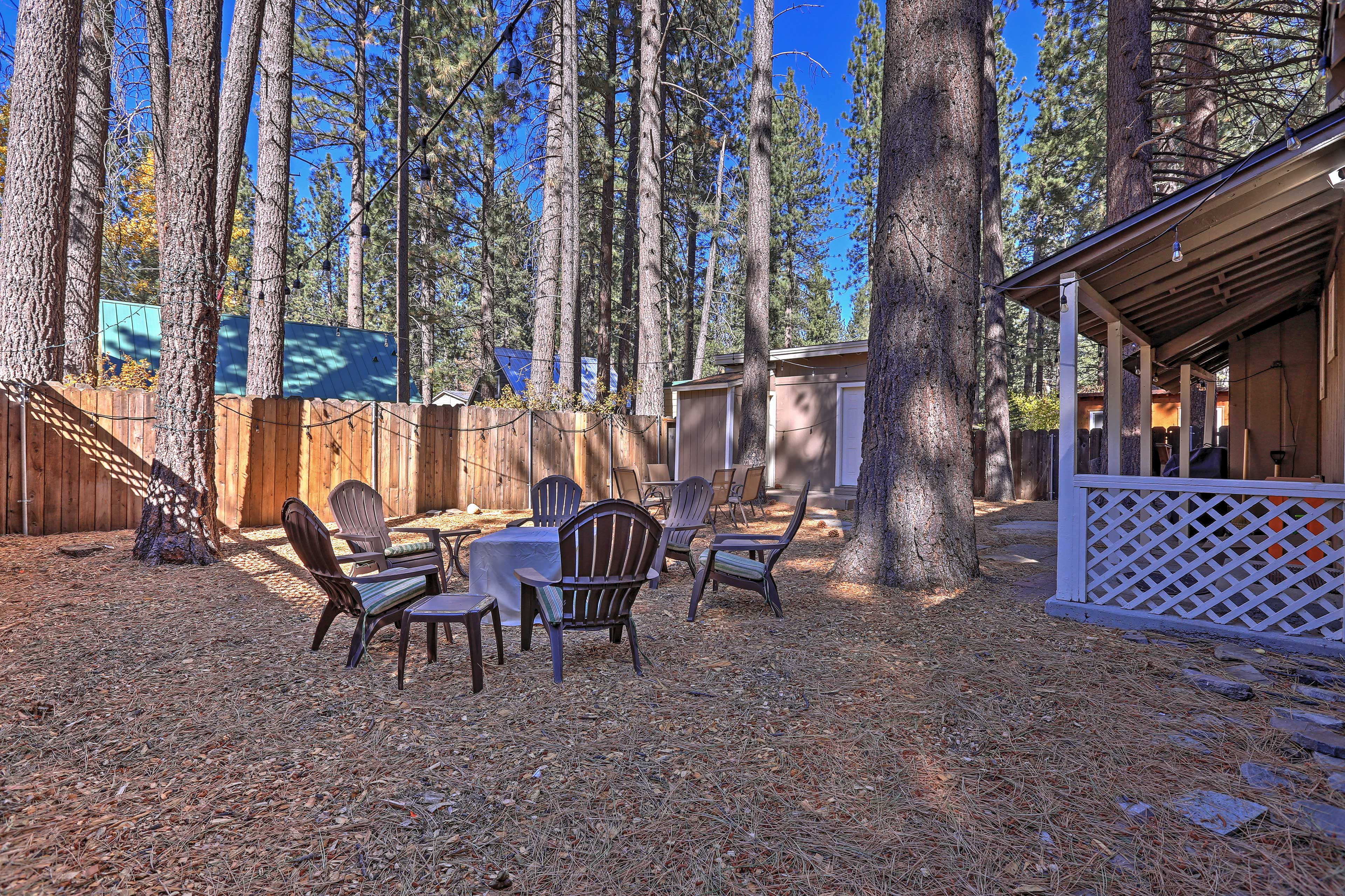 You'll find lots of space to entertain yourself outside!